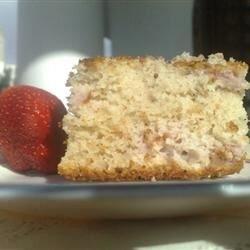 easy strawberry yogurt cake recipe