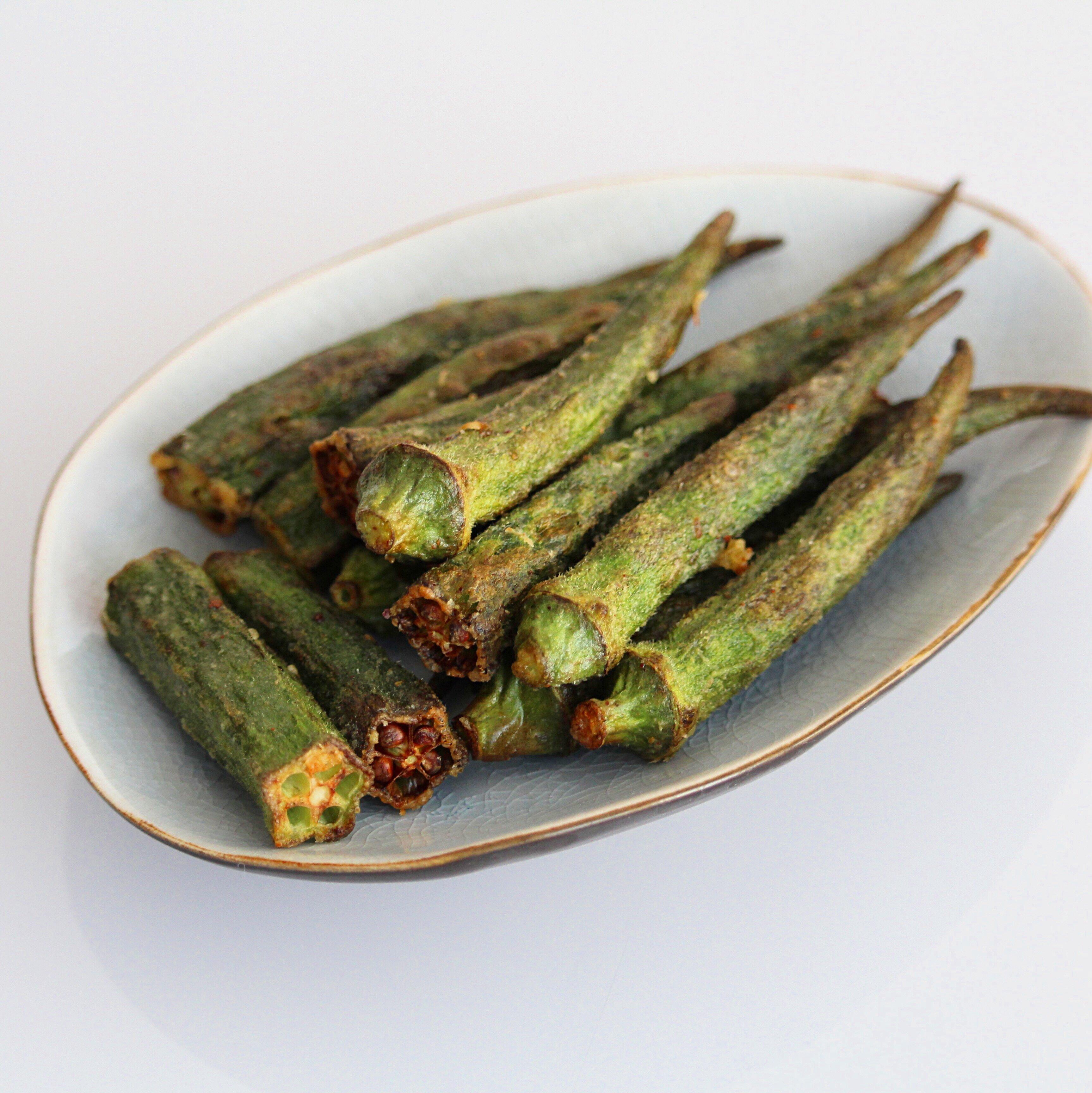 spicy air fried okra recipe