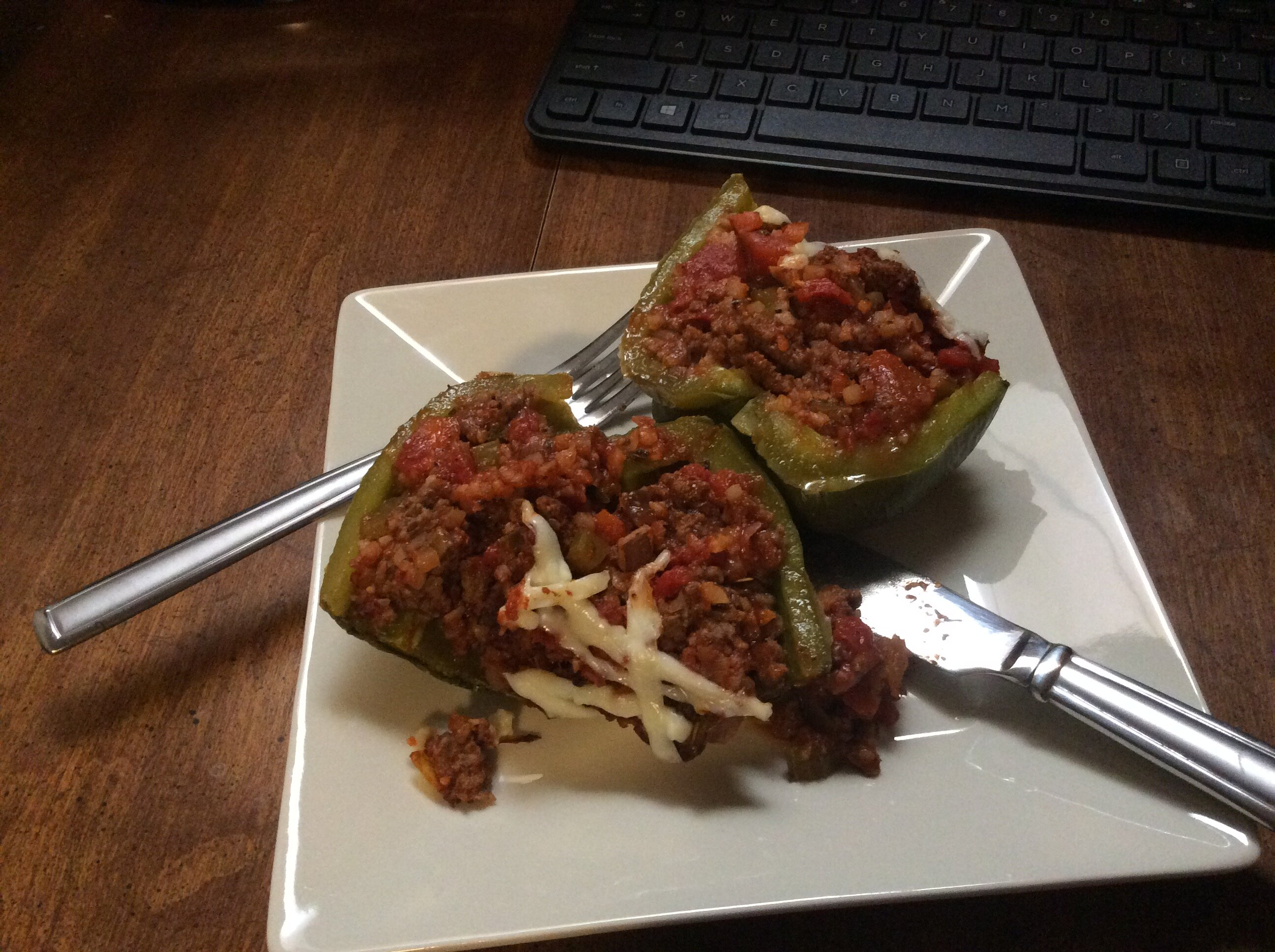 stuffed peppers with frozen cauliflower rice recipe