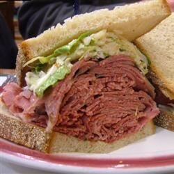 corned beef and coleslaw sandwiches