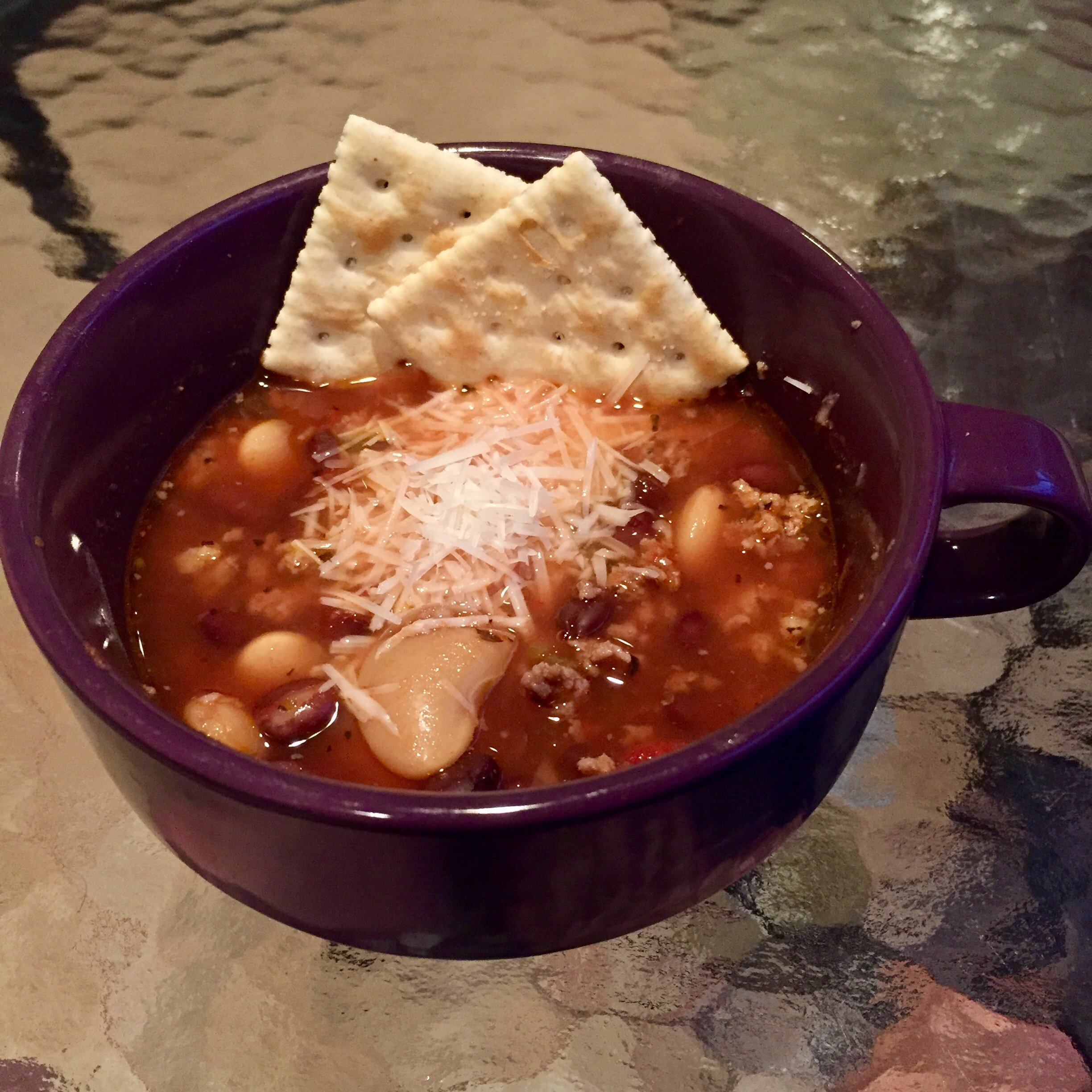 hearty italian sausage and bean soup