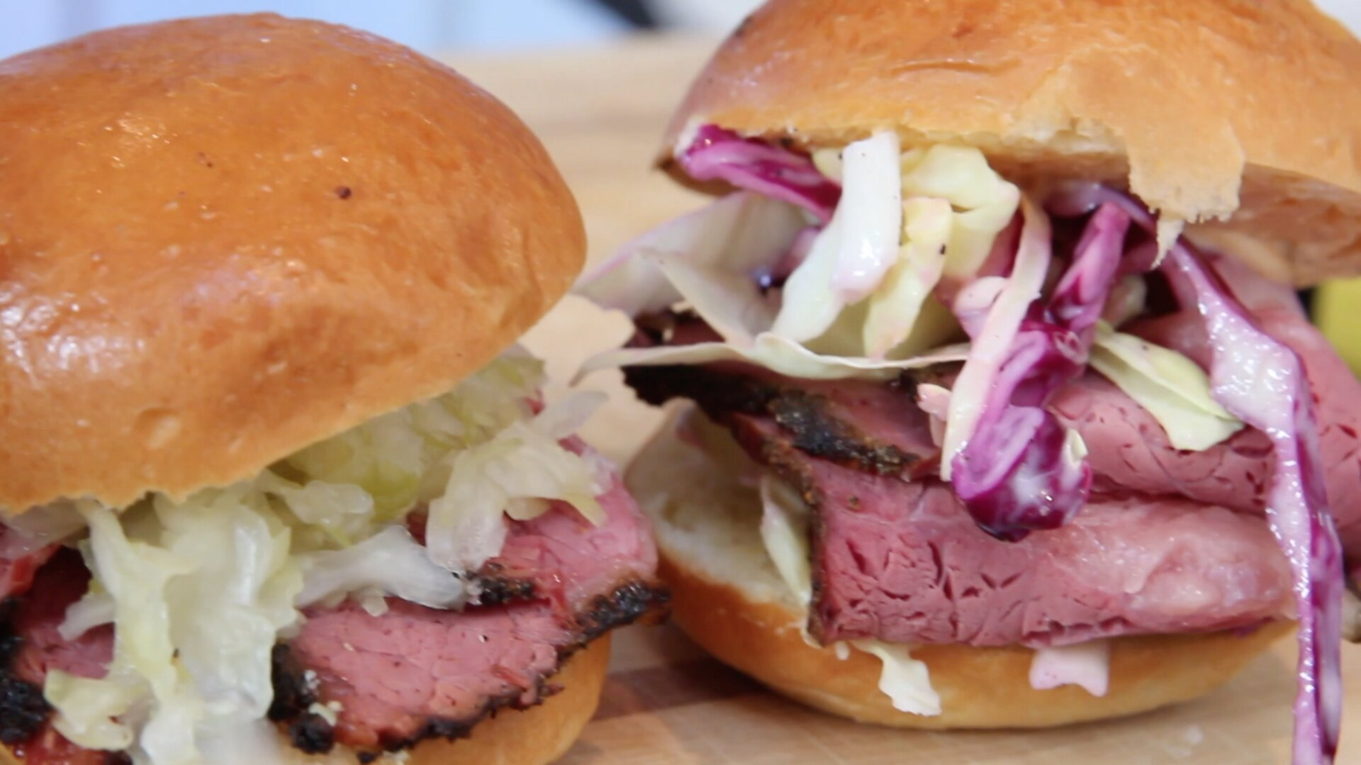 smoked corned beef sandwiches with coleslaw