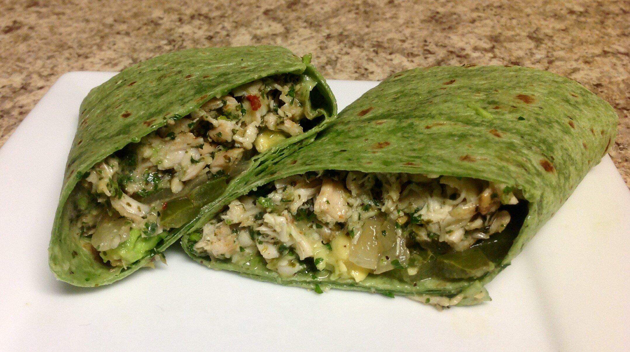 chimichurri chicken wraps recipe