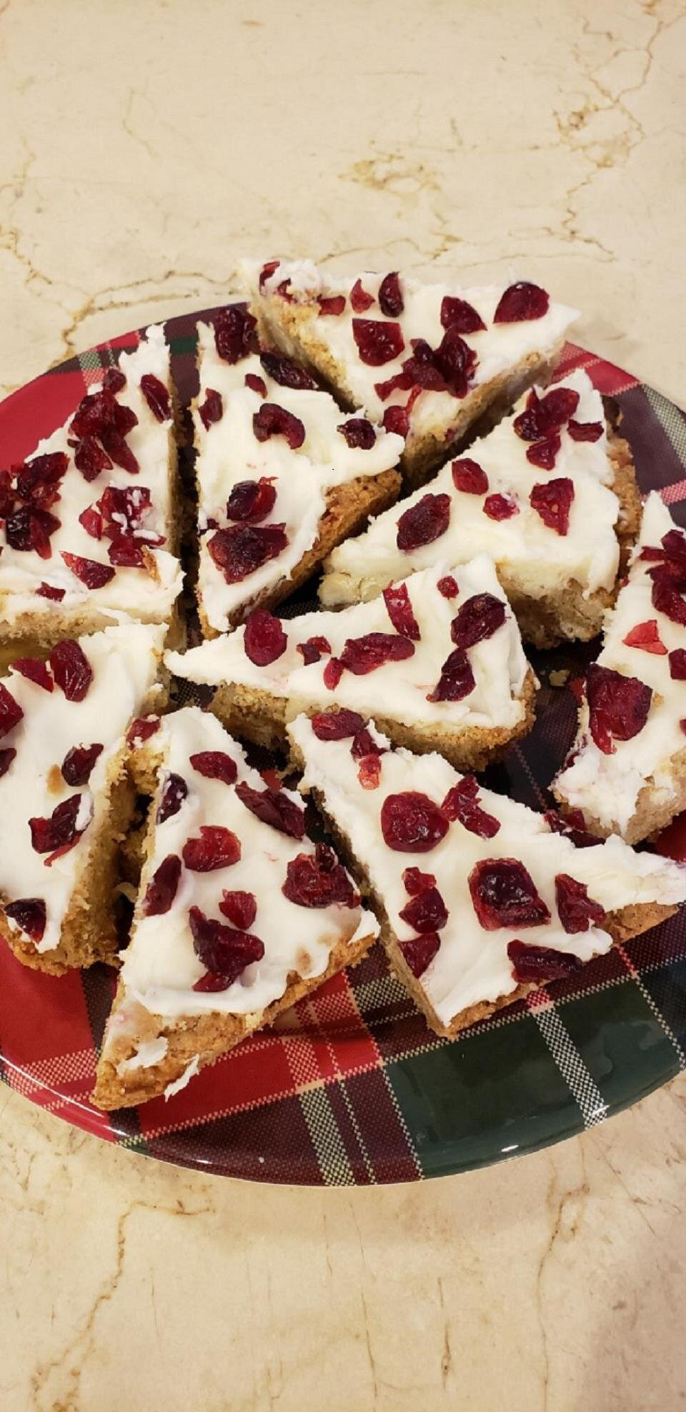 gluten free holiday bliss cookie bars