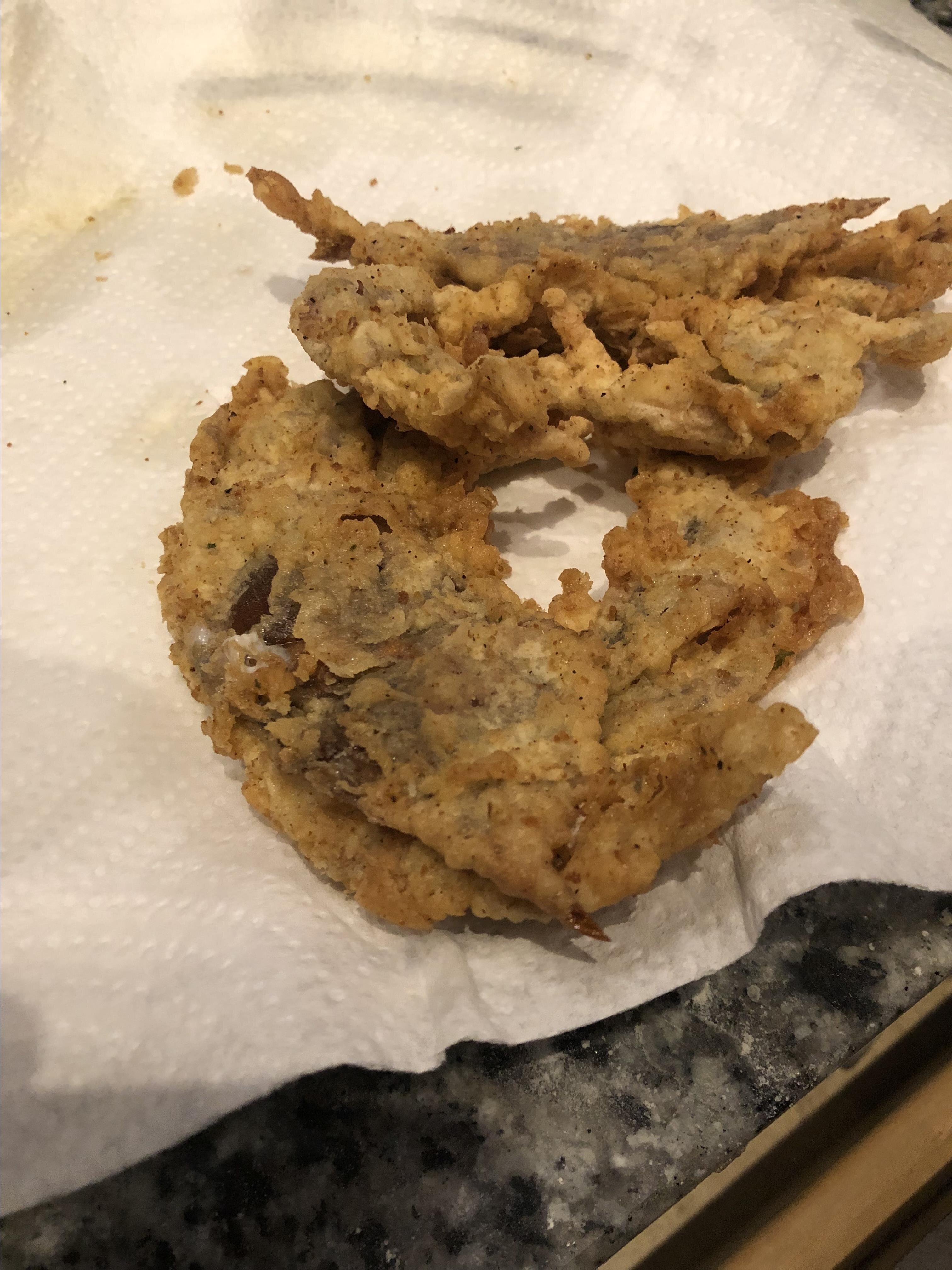deep fried soft shell crab