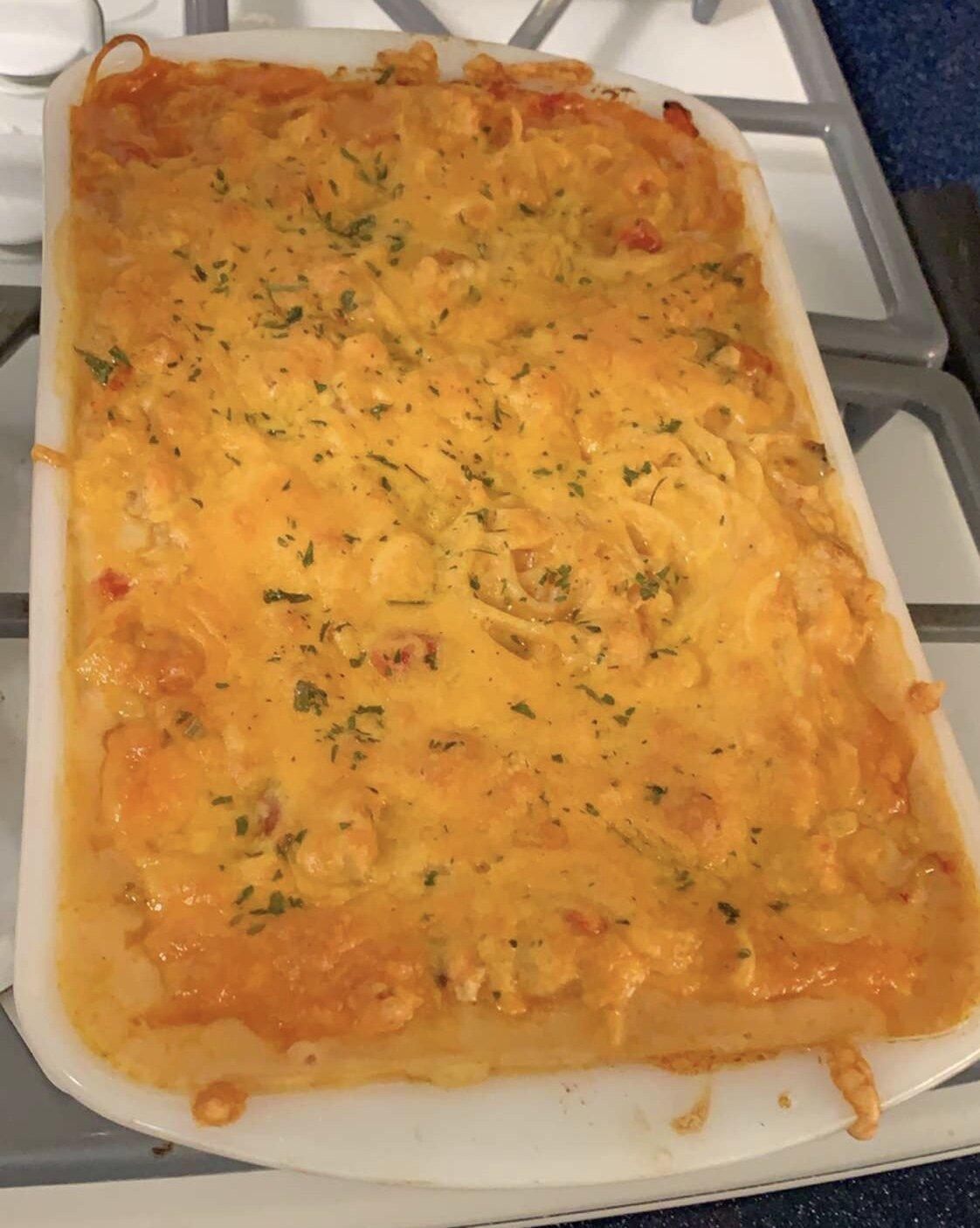 crawfish baked spaghetti recipe