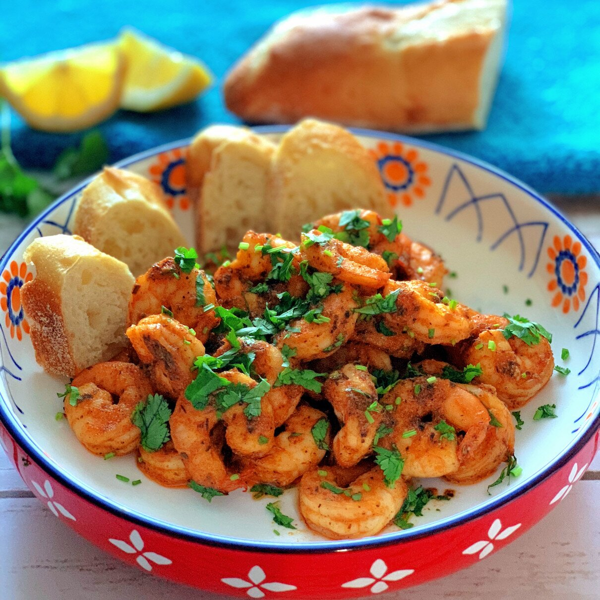 hot cajun shrimp appetizer