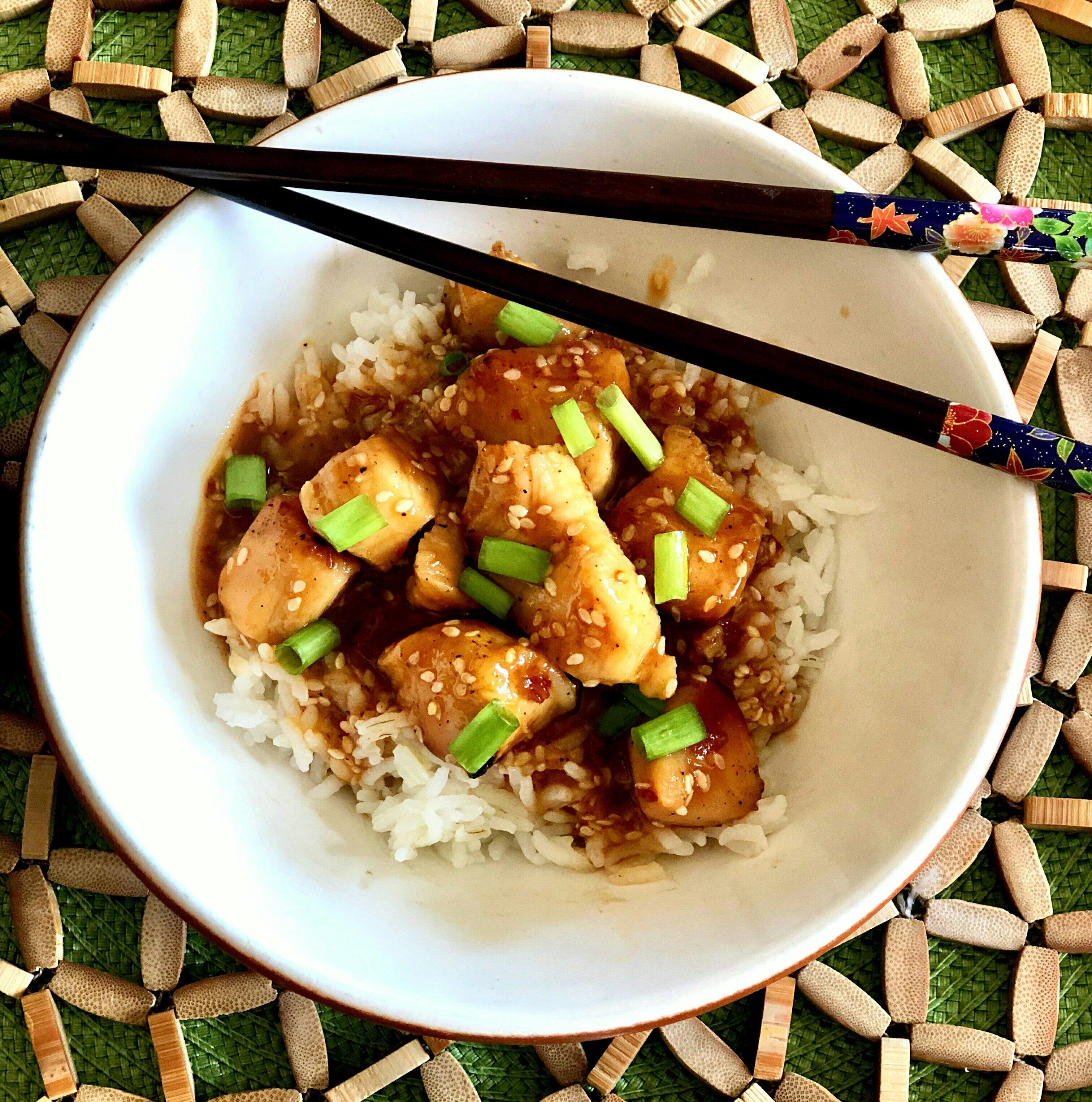 healthier honey sesame chicken recipe