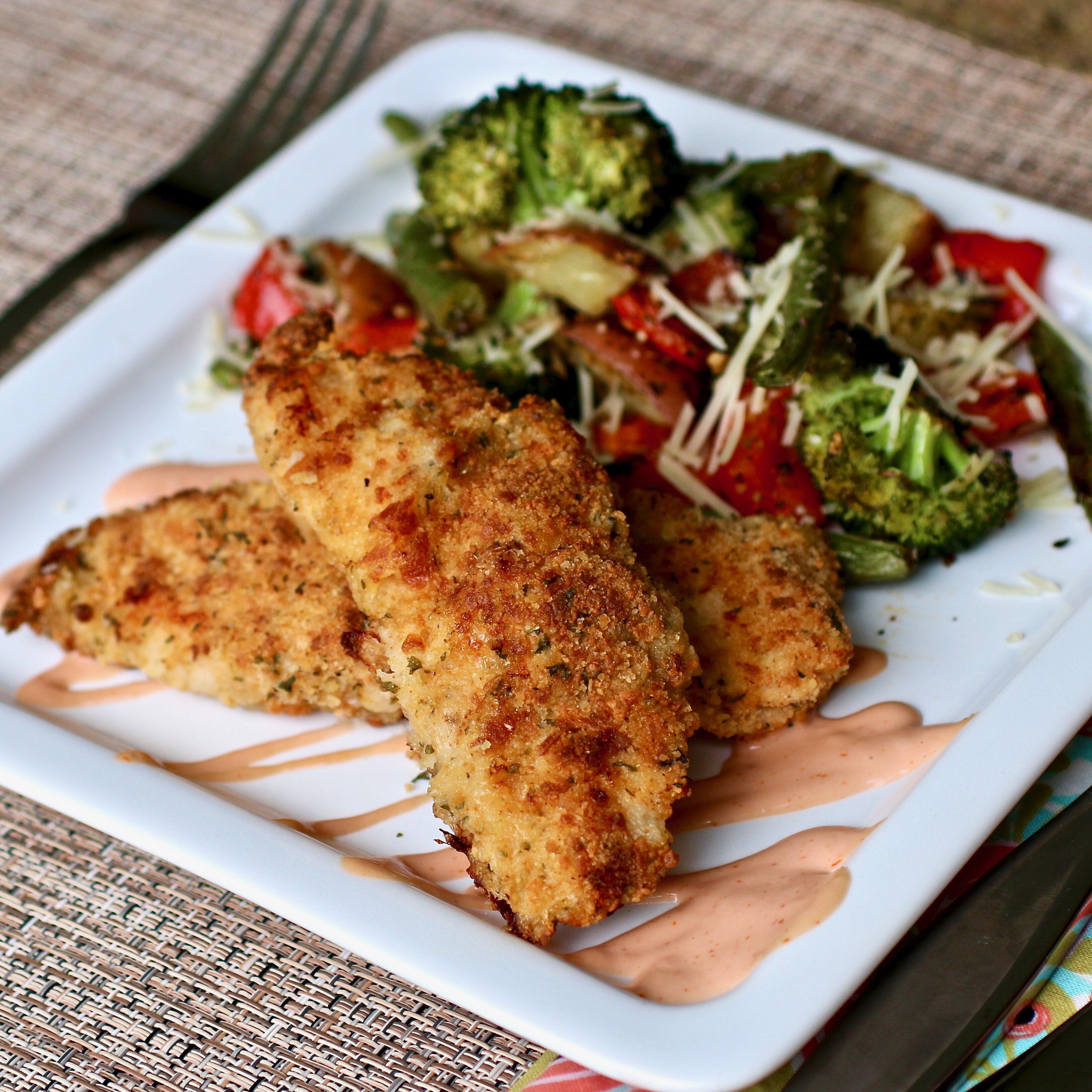 sheet pan parmesan chicken and veggies recipe