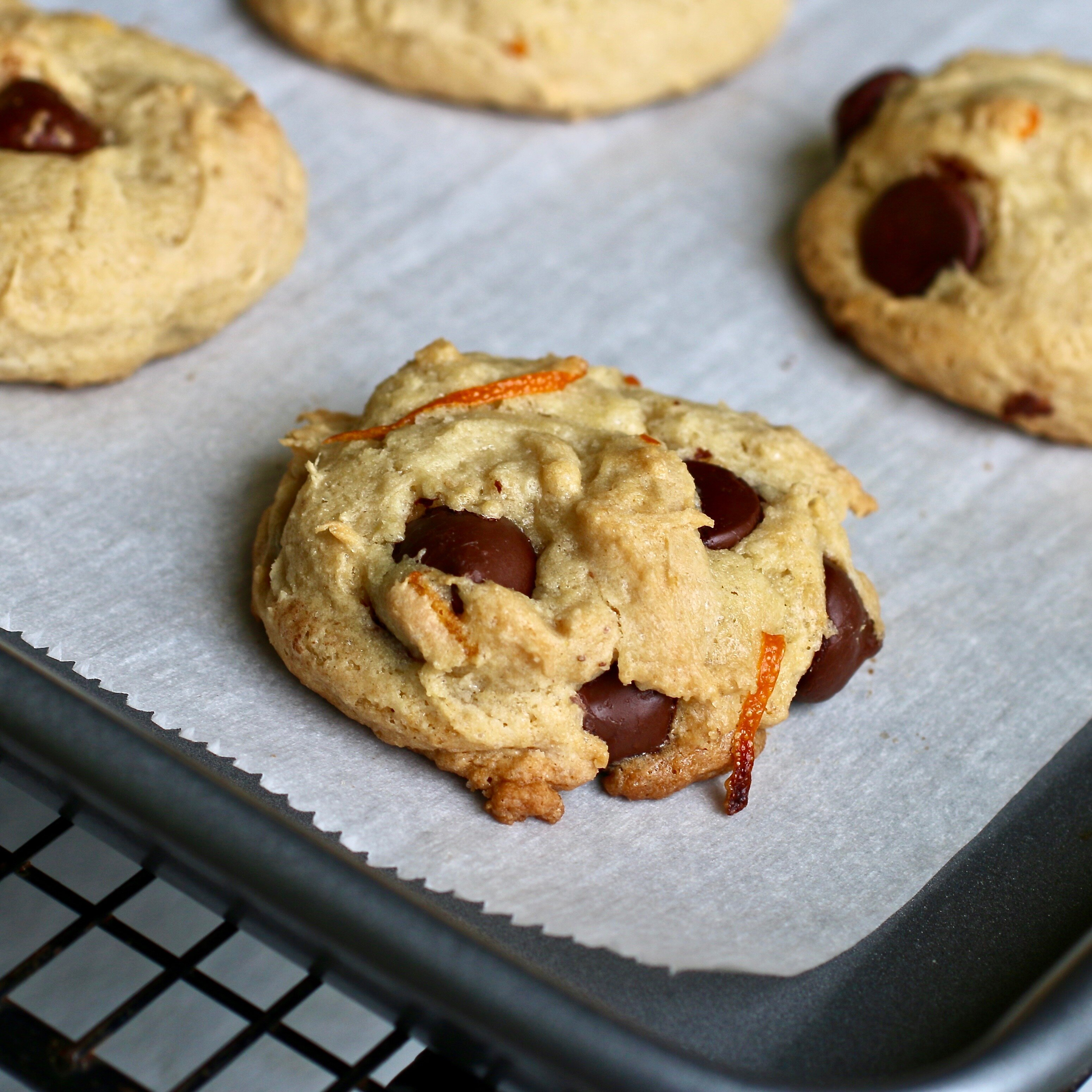 orange dark chocolate cookies recipe