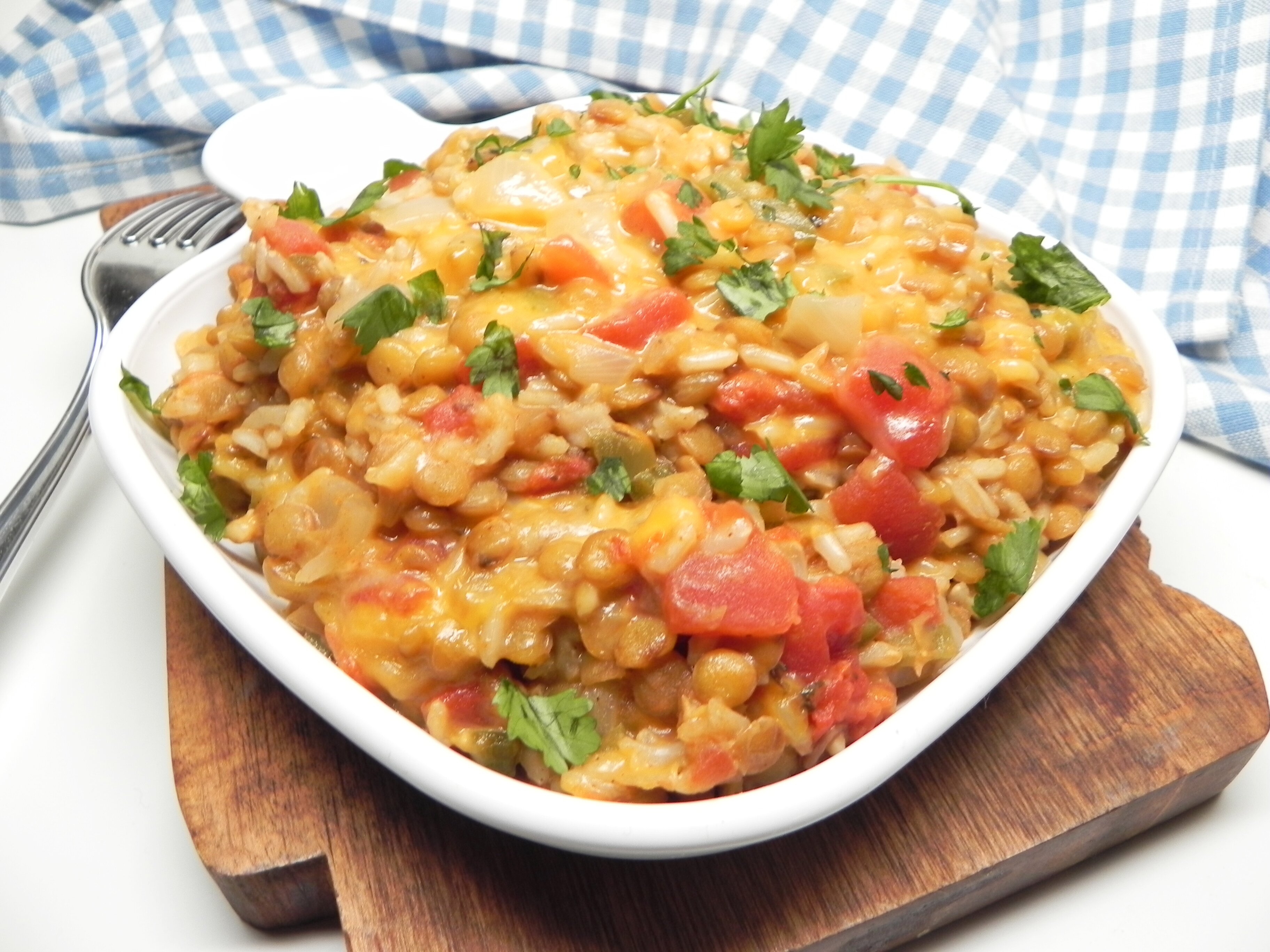 instant pot cheesy mexican lentils and rice recipe