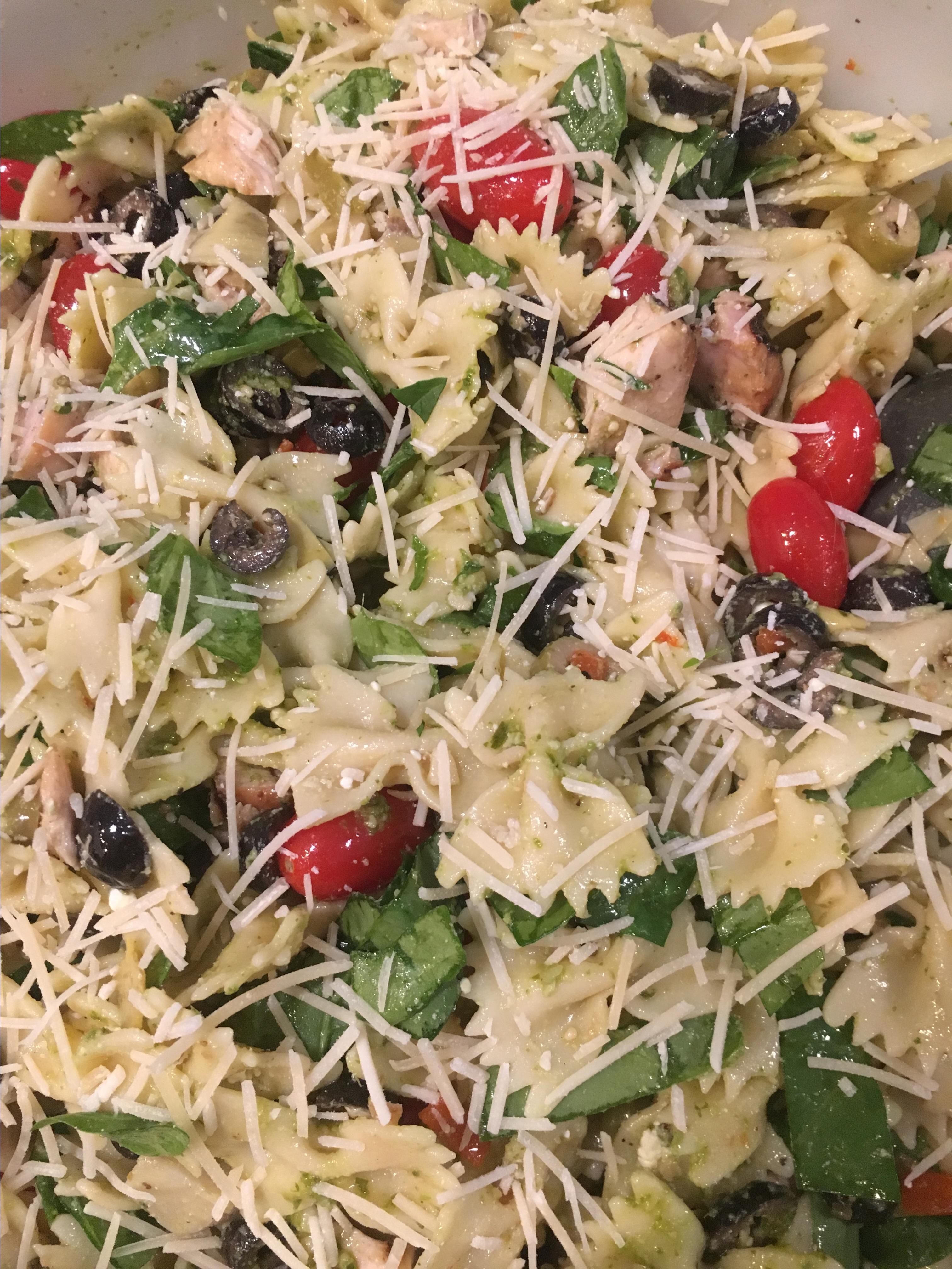 pesto surprise vegetarian pasta salad recipes