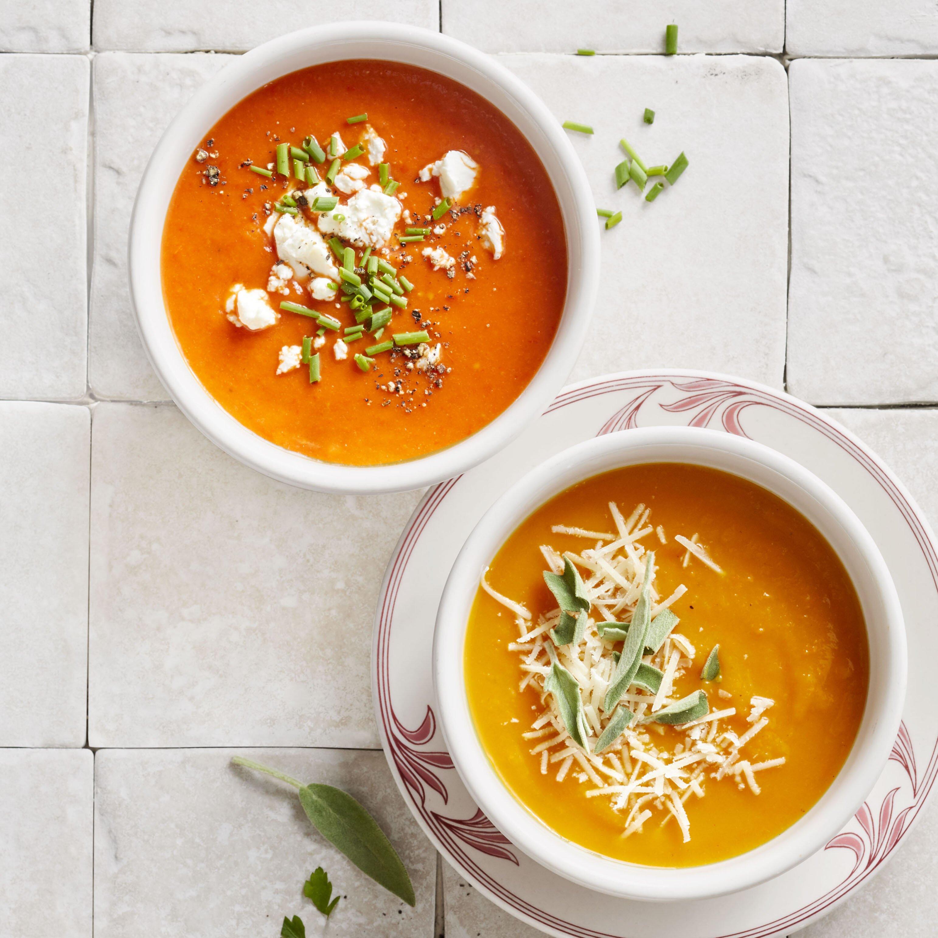 roasted vegetable soup 3 ways