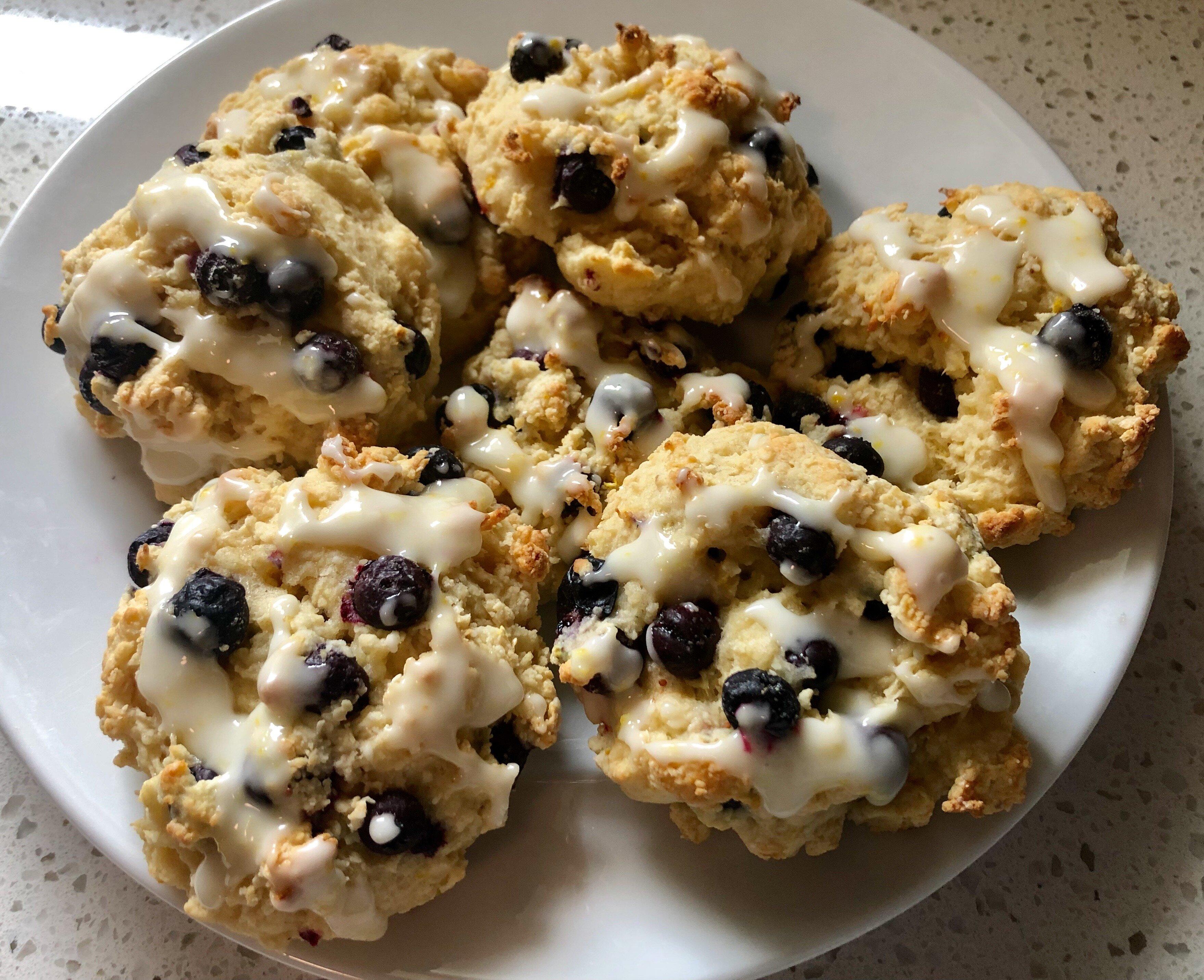 lemon drop blueberry scones recipe