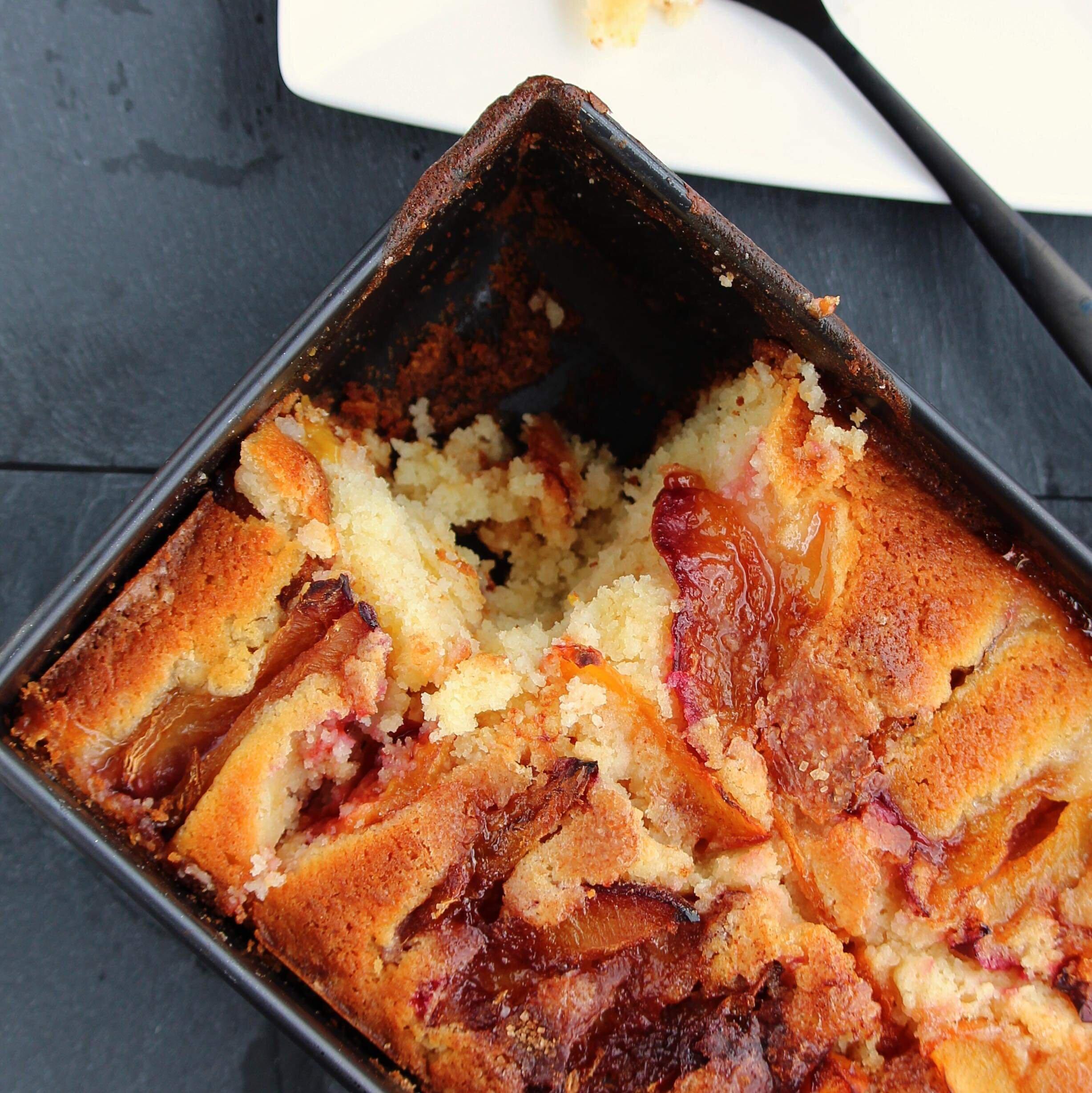 peach and plum cake recipe