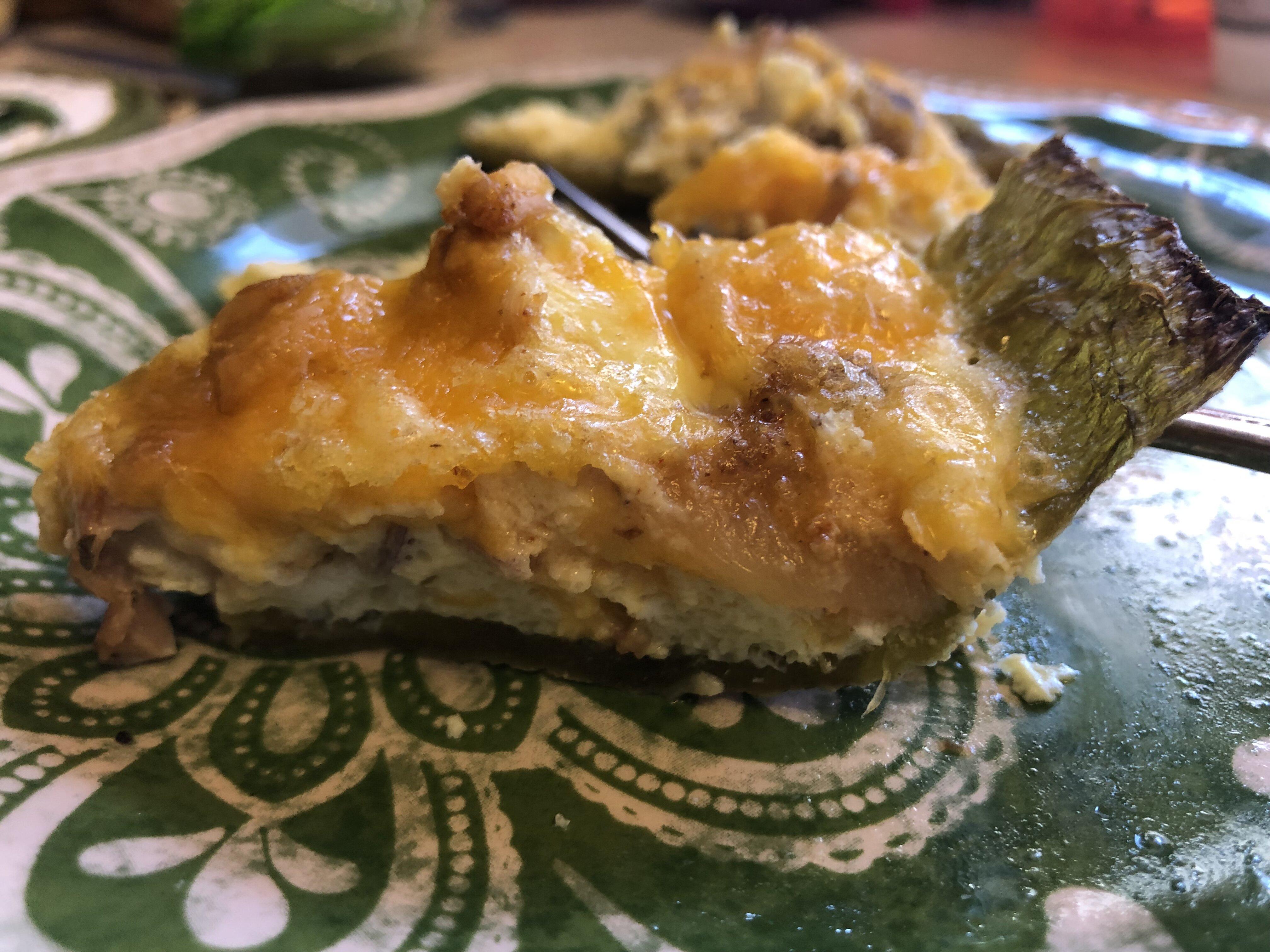 chile verde quiche recipe