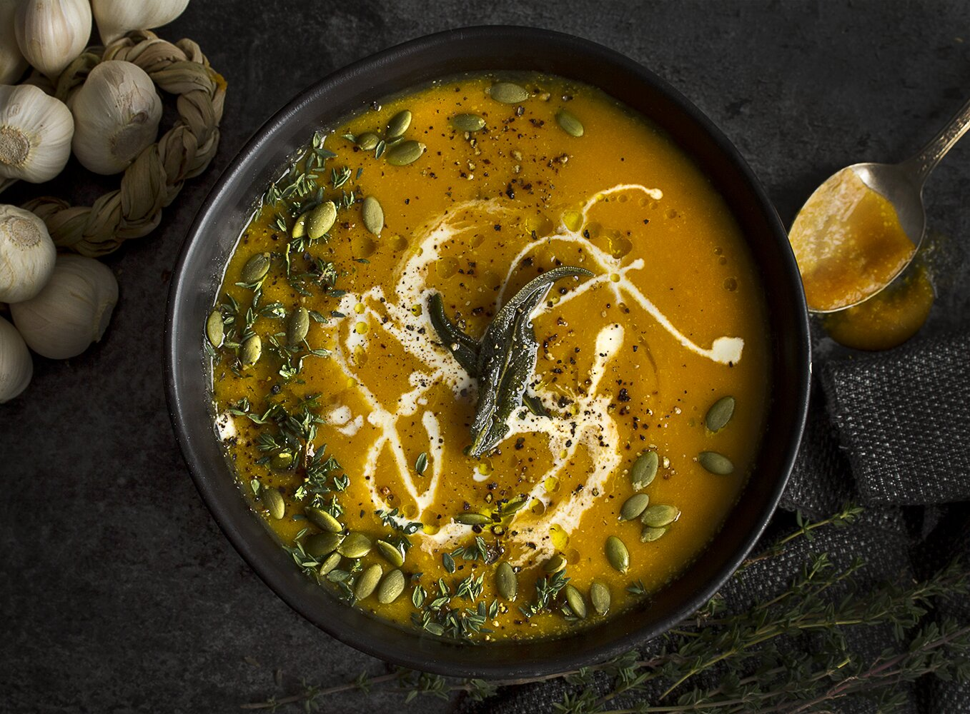 sweet vegan butternut squash soup recipe