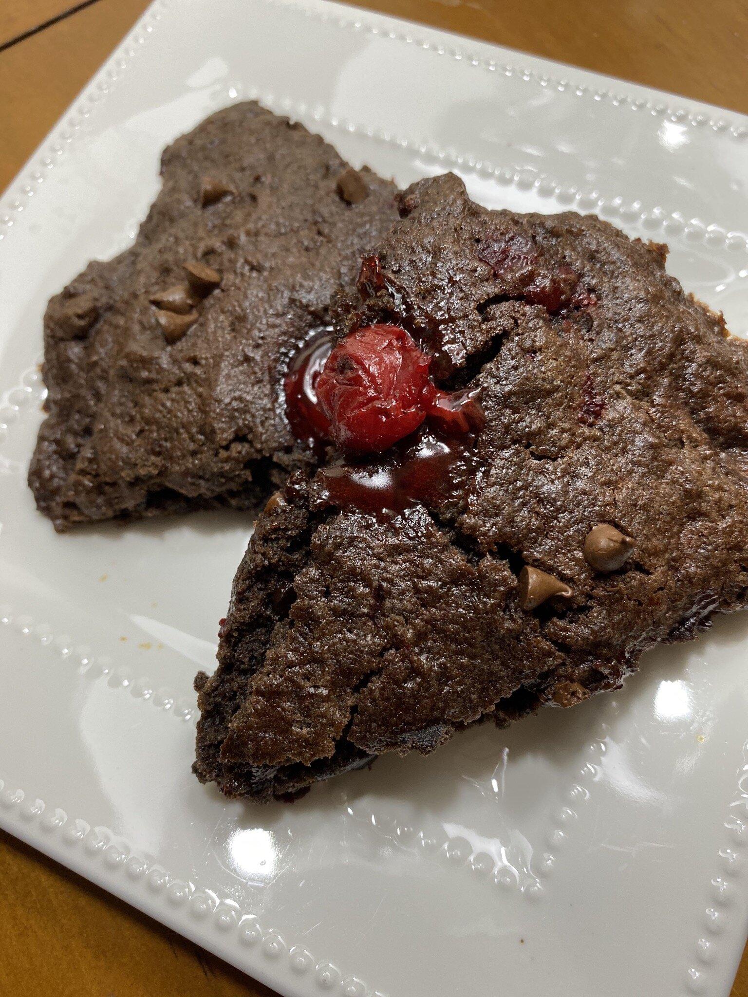 double chocolate cherry scones recipe