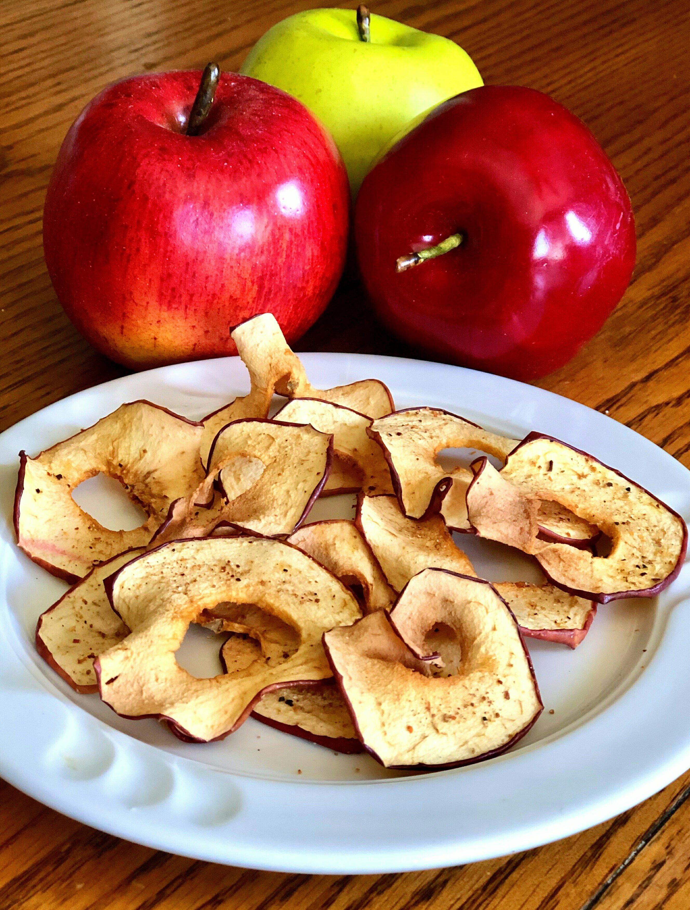 air fryer tajin apple chips recipe