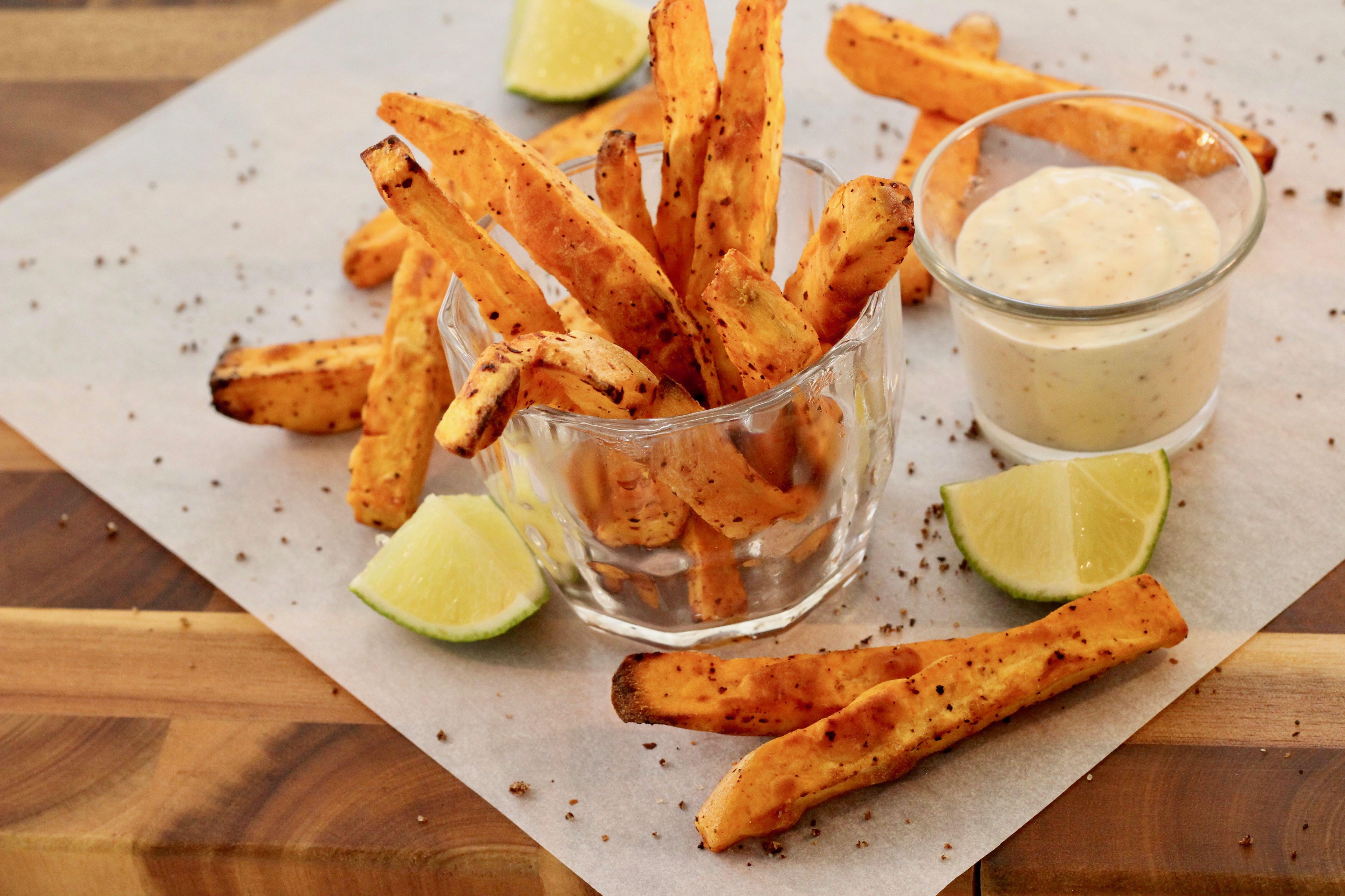 air fryer tajin sweet potato fries recipe