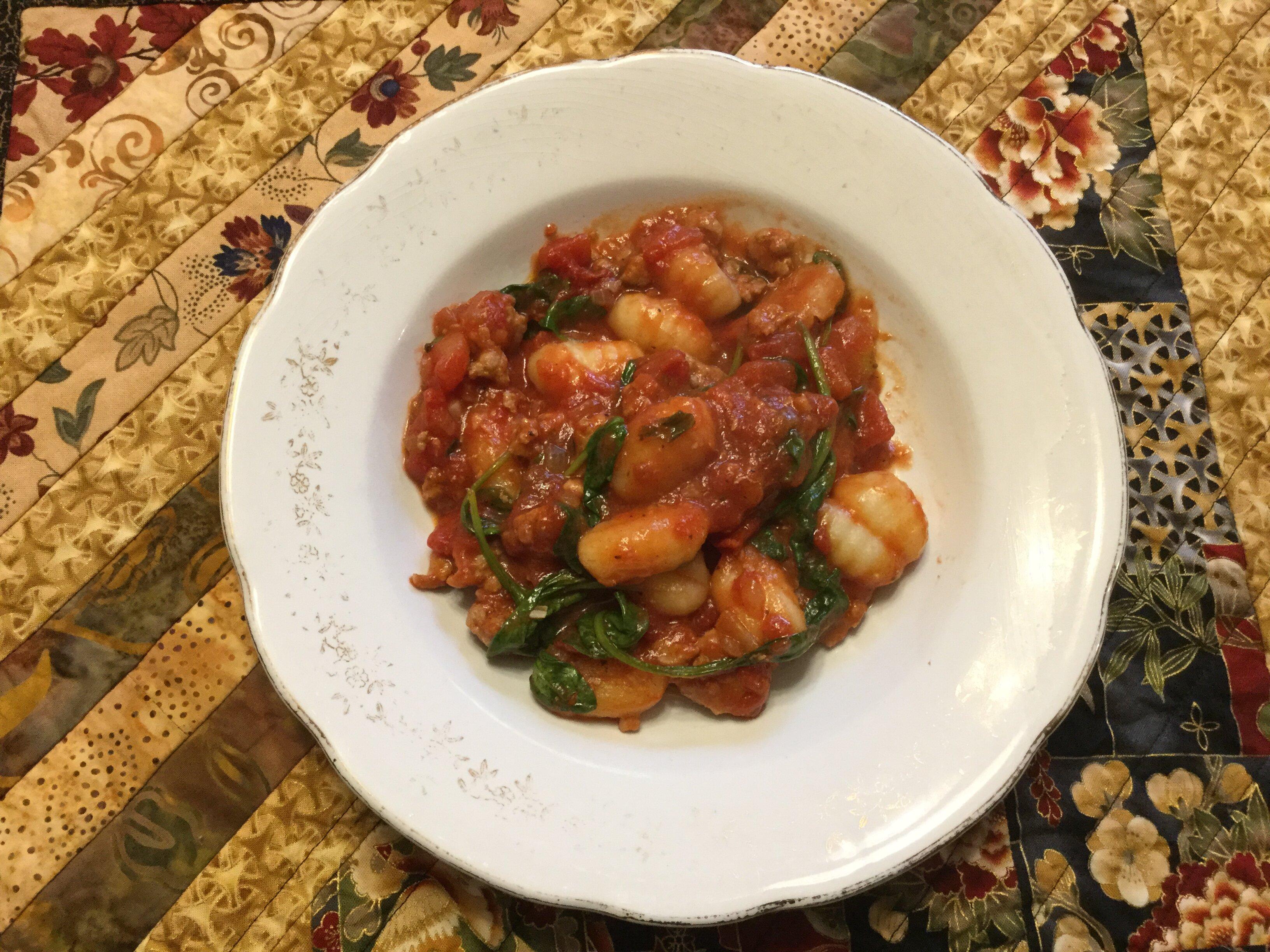 italian sausage and gnocchi skillet recipe