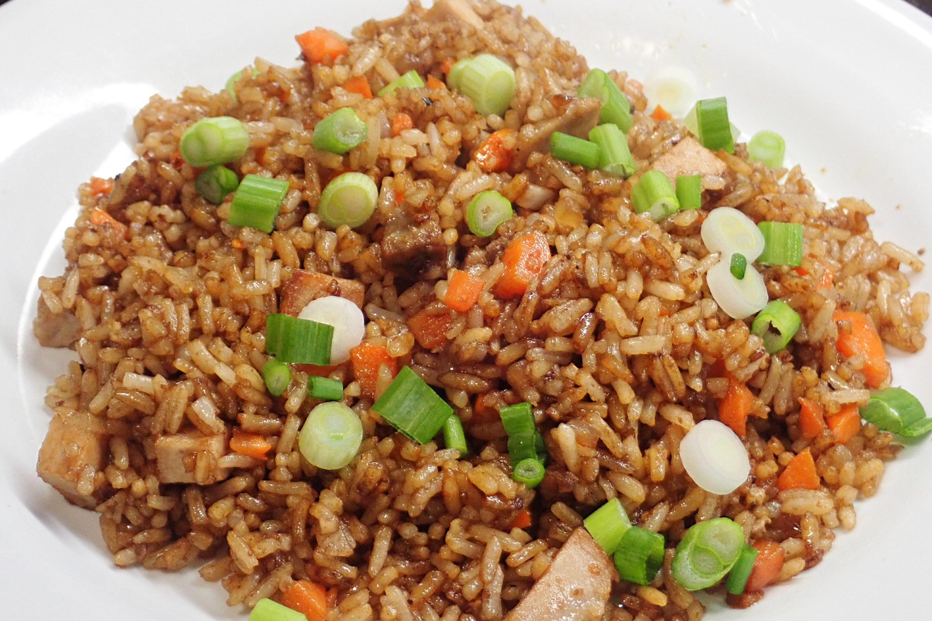 quick pork fried rice recipe