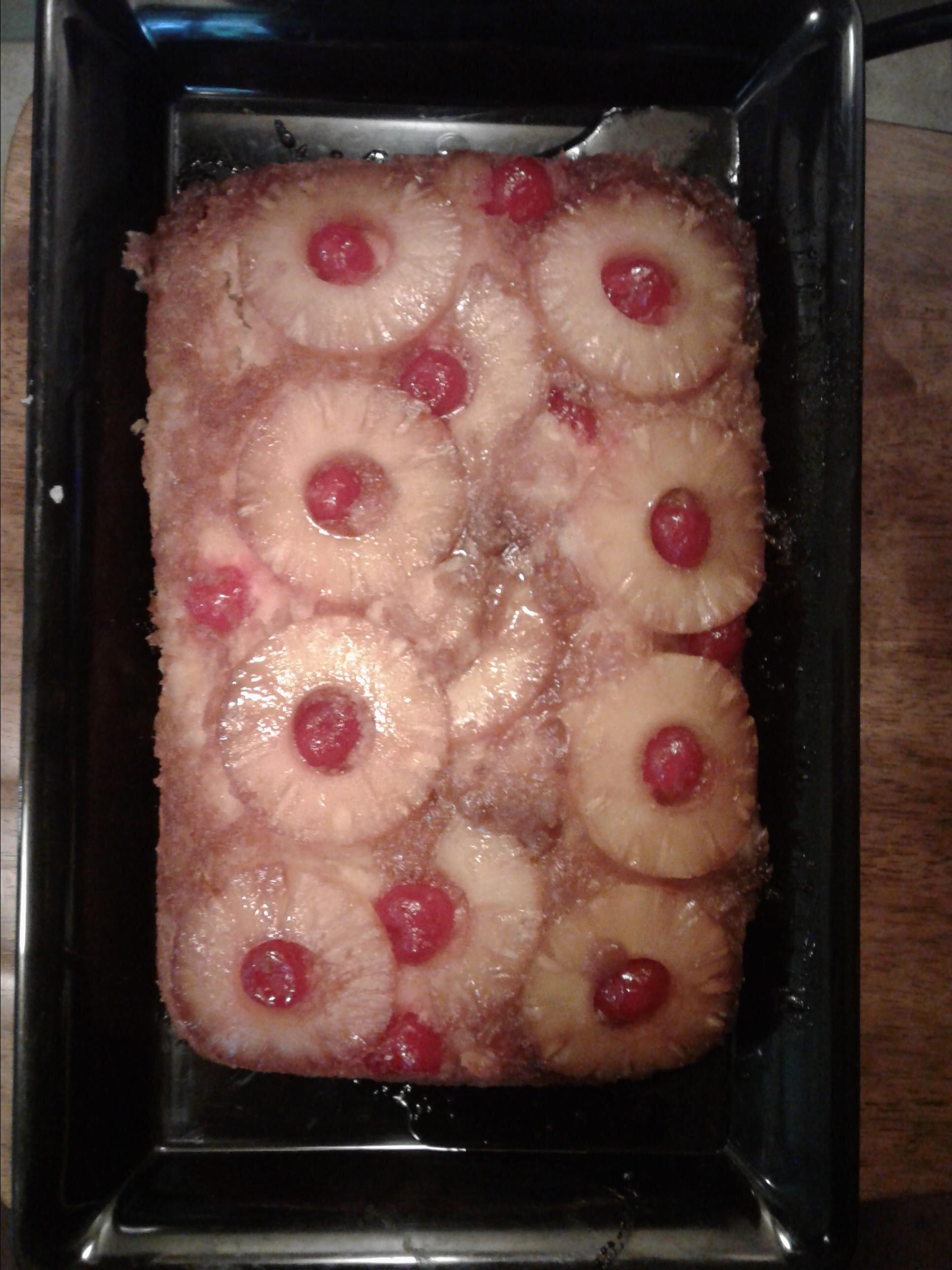 pineapple cherry upside down cake recipe
