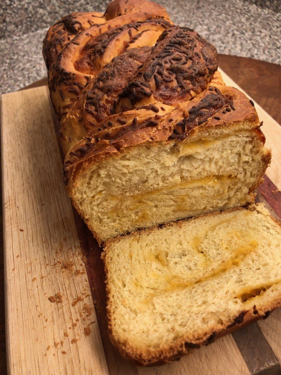 braided pumpkin cheese bread recipe