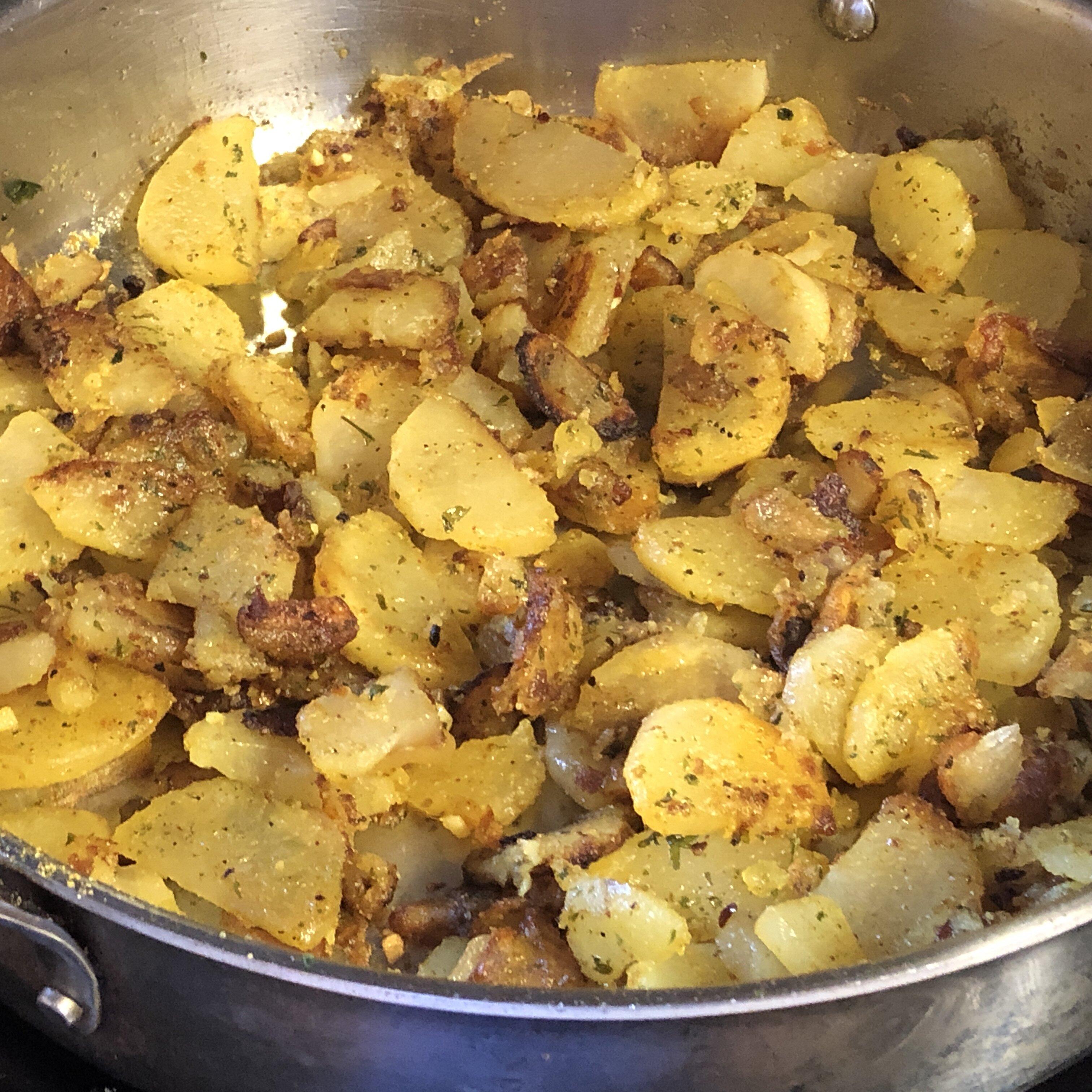 steves famous garlic home fries recipe