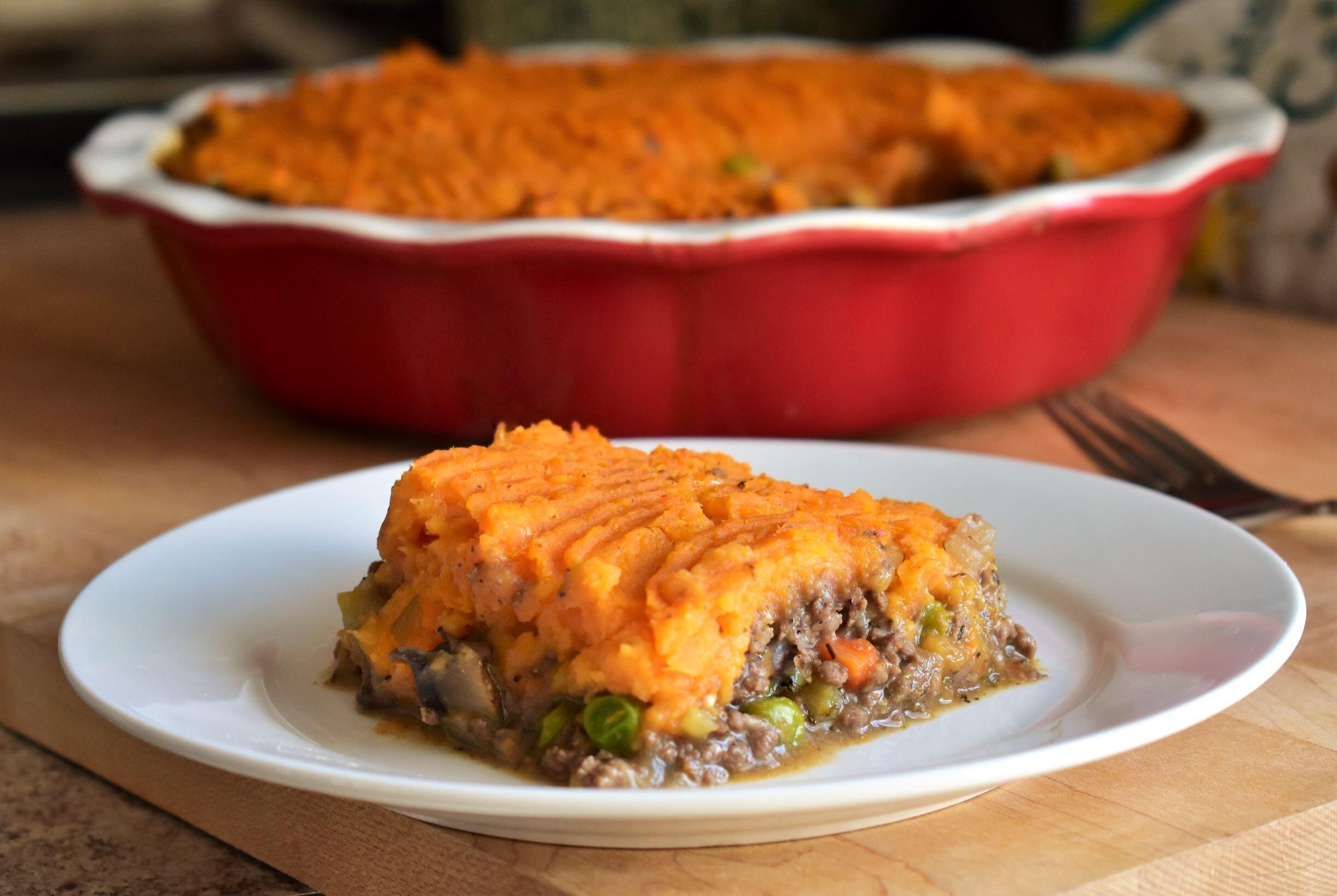 sweet potato and venison shepherds pie recipe