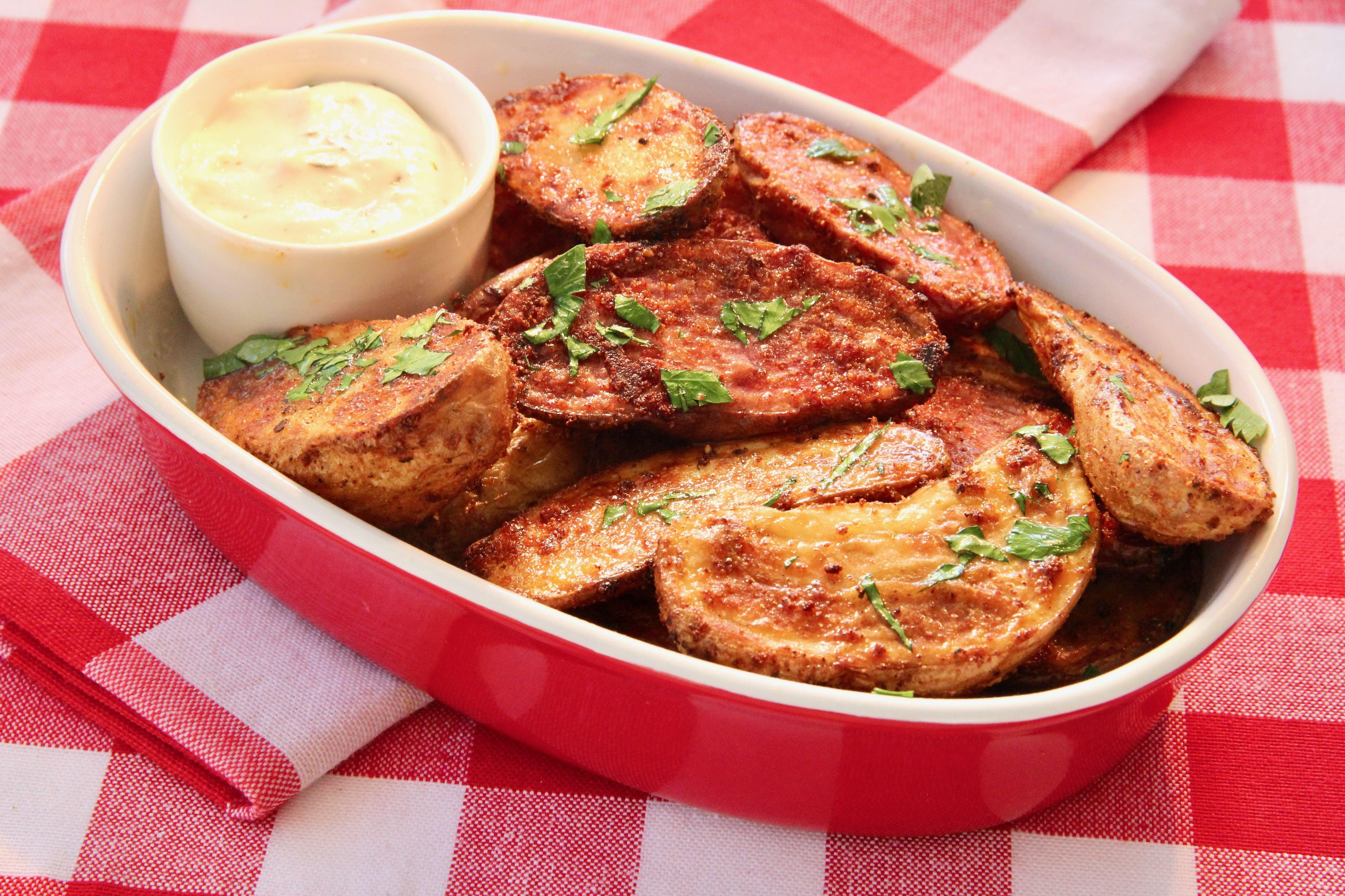 air fryer fingerling potatoes with dip recipe