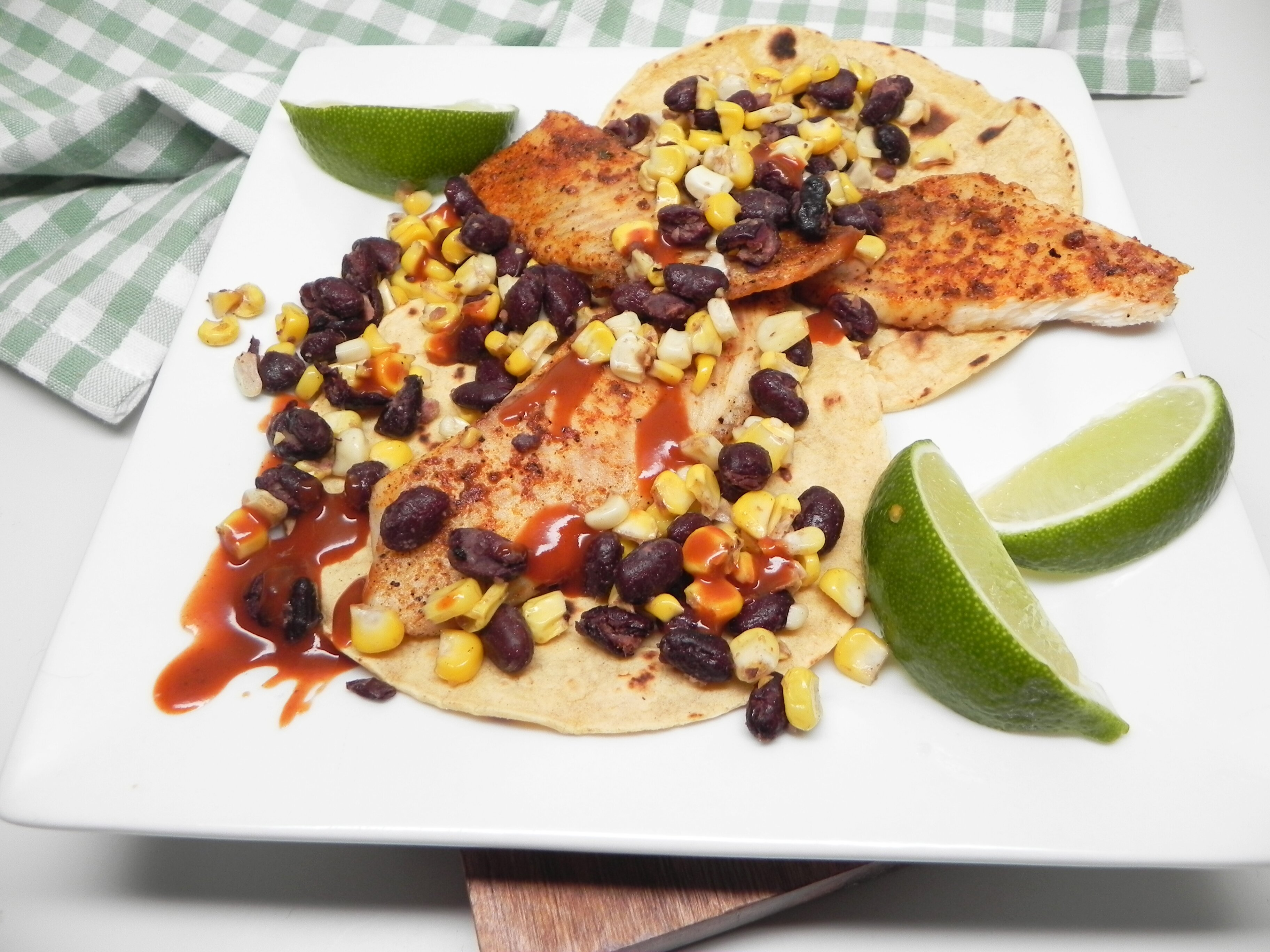 air fryer blackened fish tacos recipe
