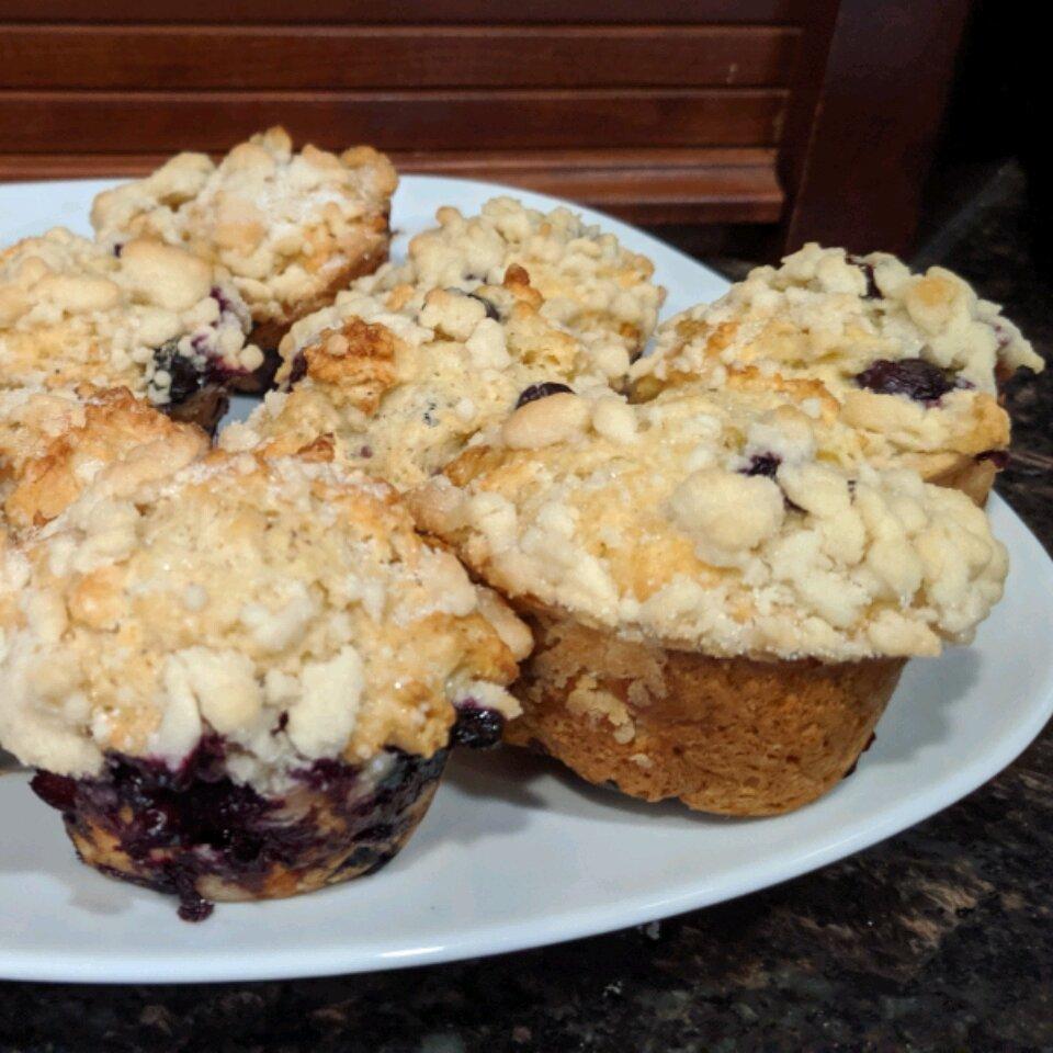 blueberry streusel muffins with yogurt recipe