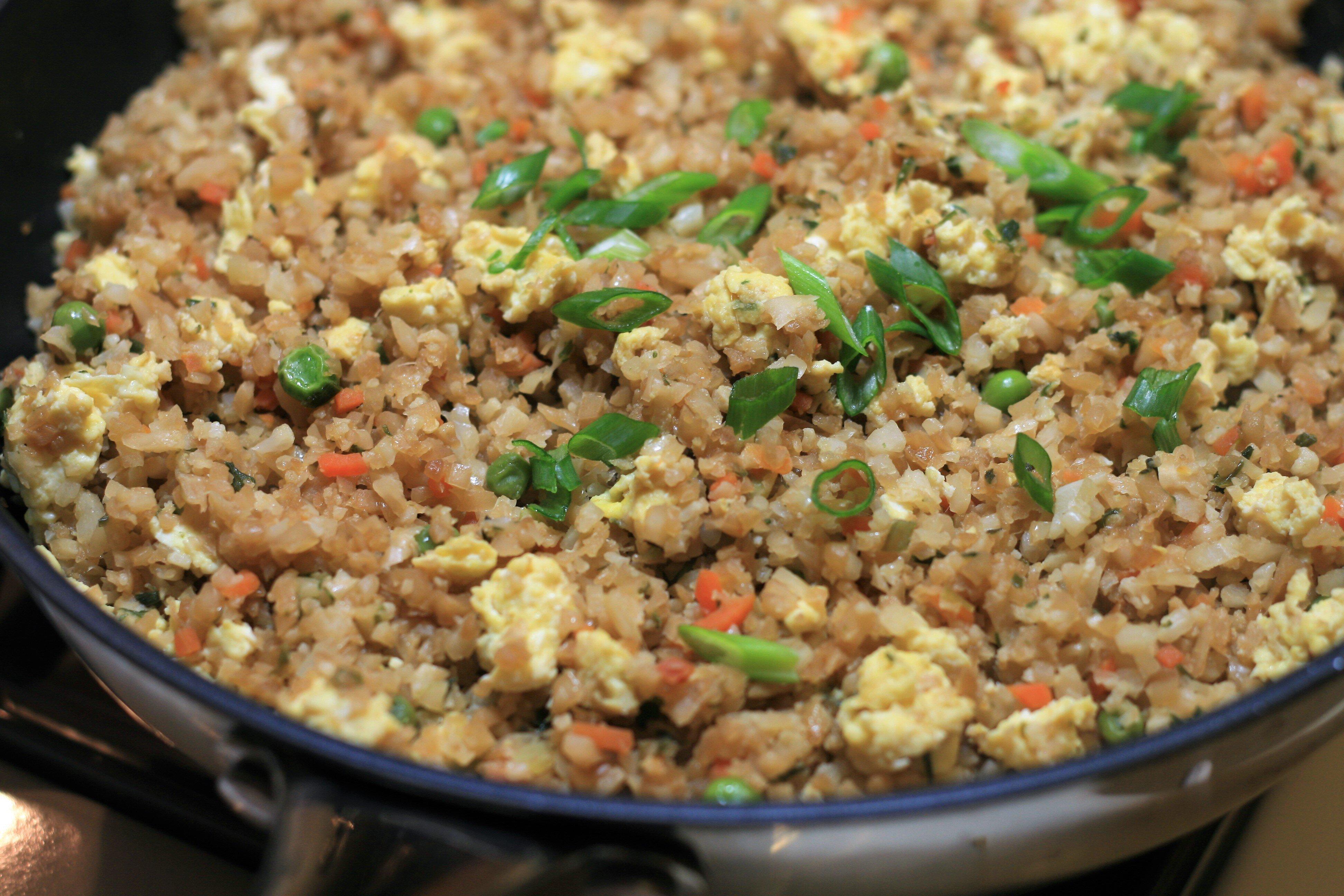 cauliflower rice stir fry recipe