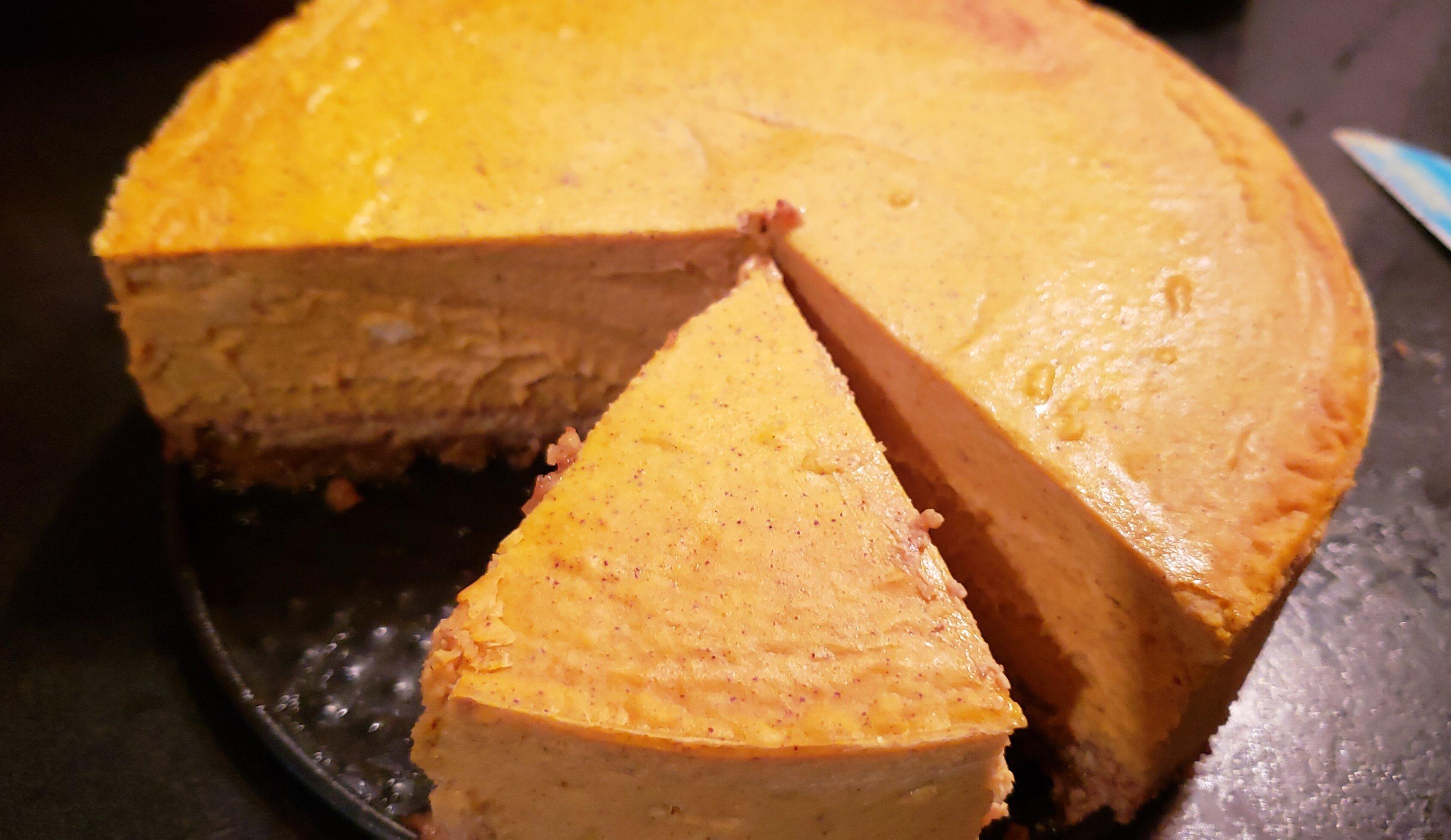 back to keto pumpkin cheesecake with almond pecan crust recipe
