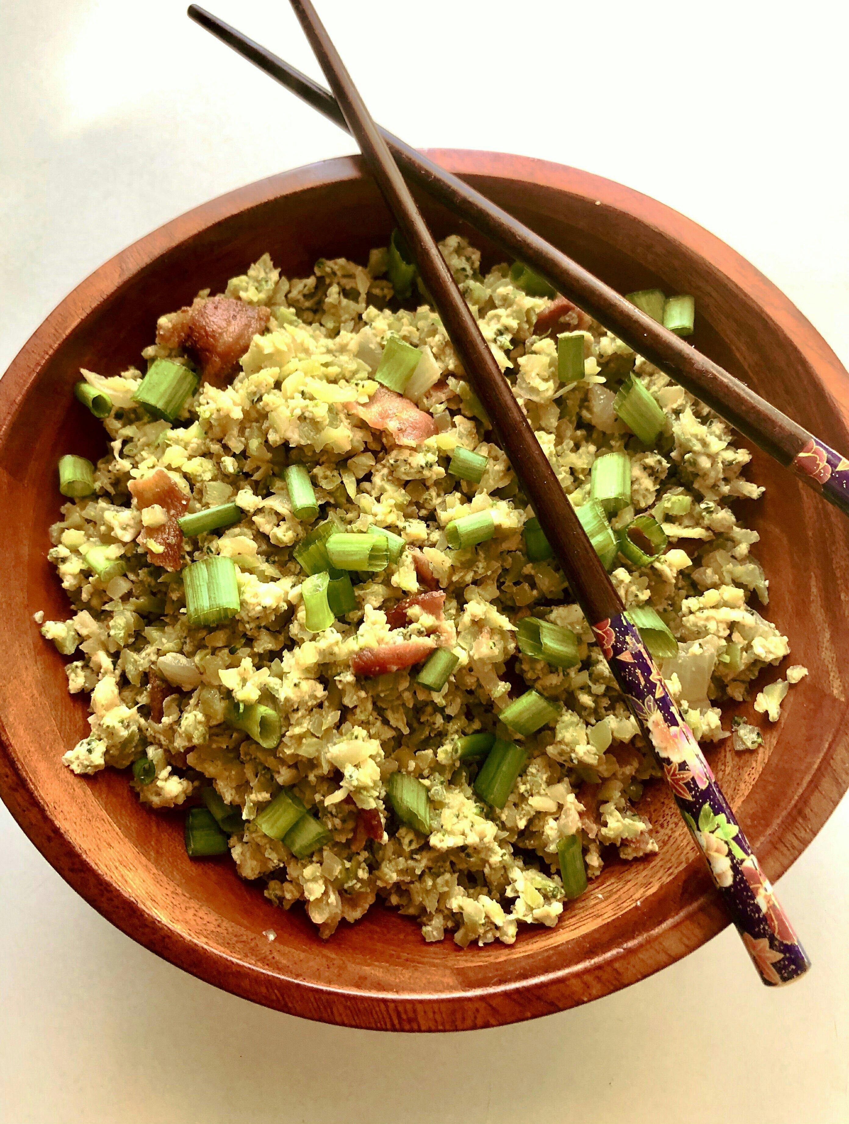 bacon fried broccoli rice recipe