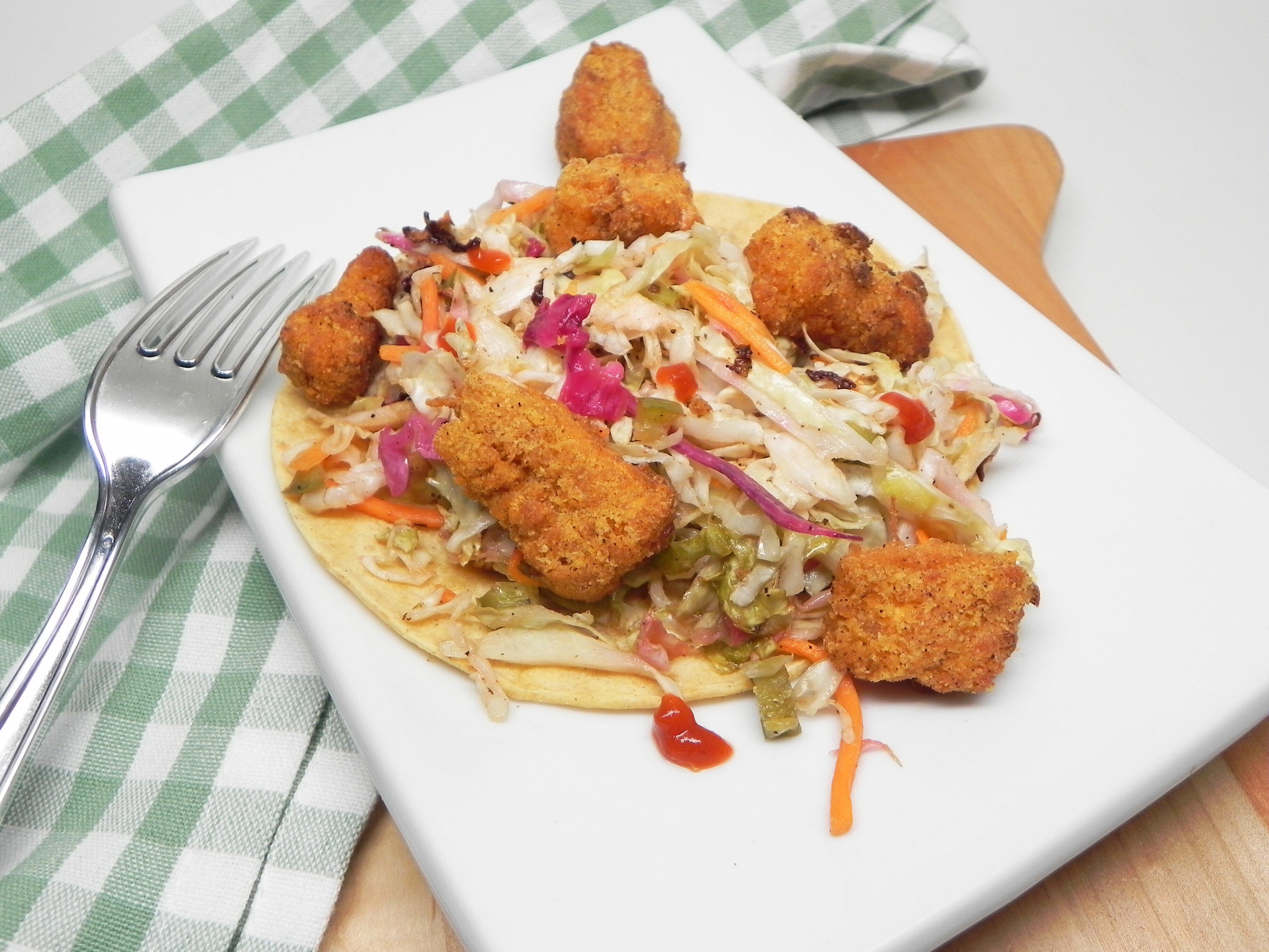 air fryer crispy fish tacos with slaw recipe