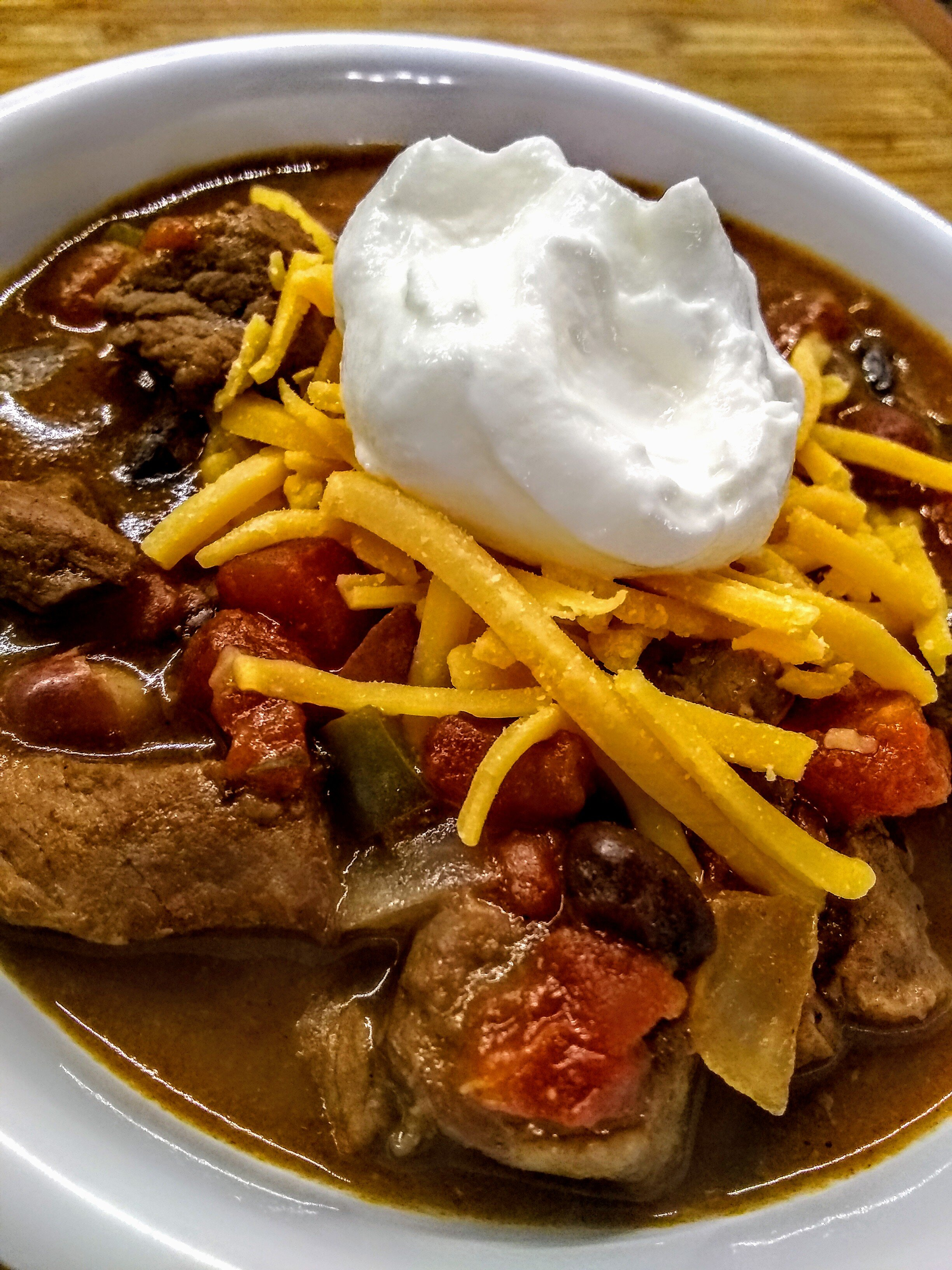 slow cooked stew meat chili recipe