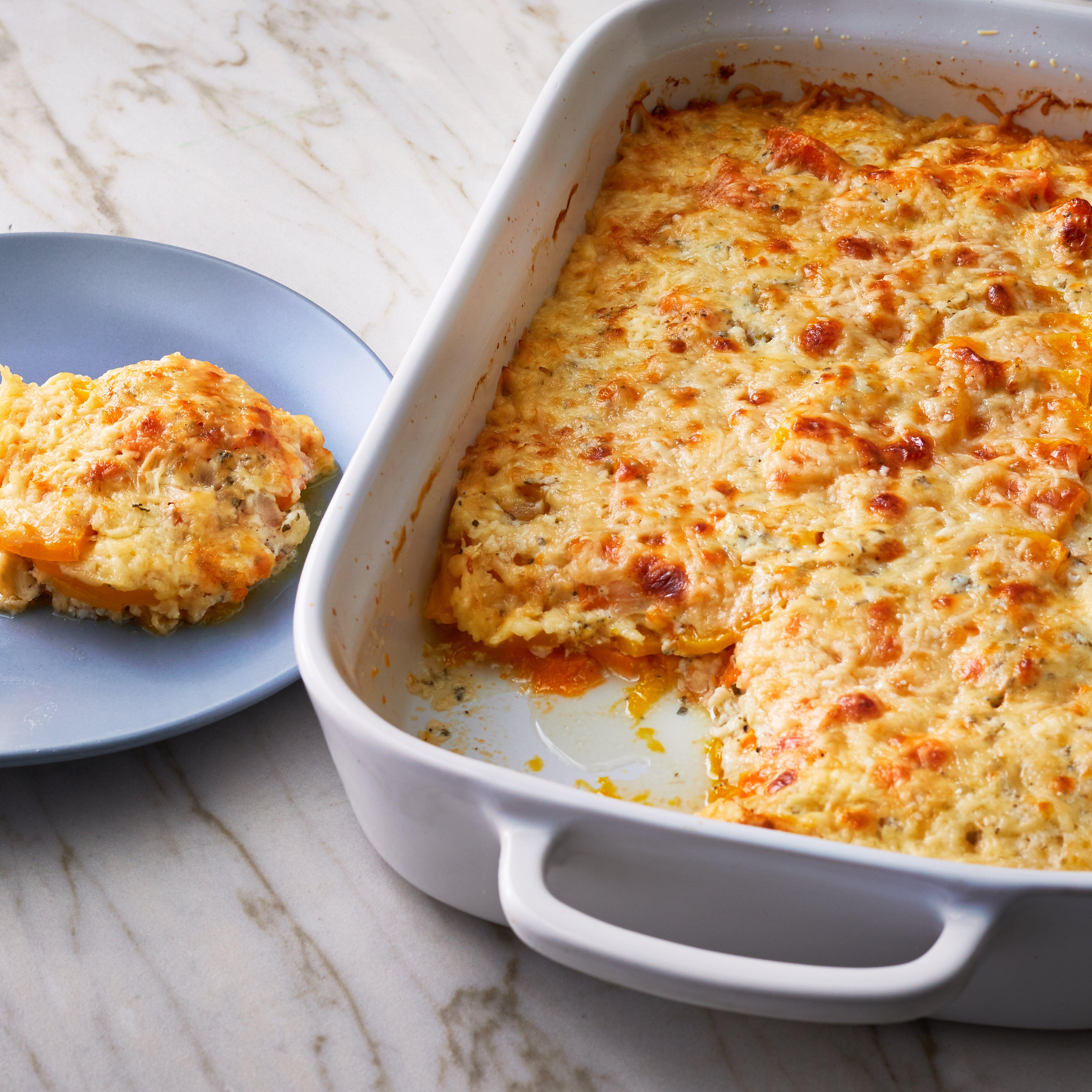 scalloped sweet potatoes and butternut squash recipe