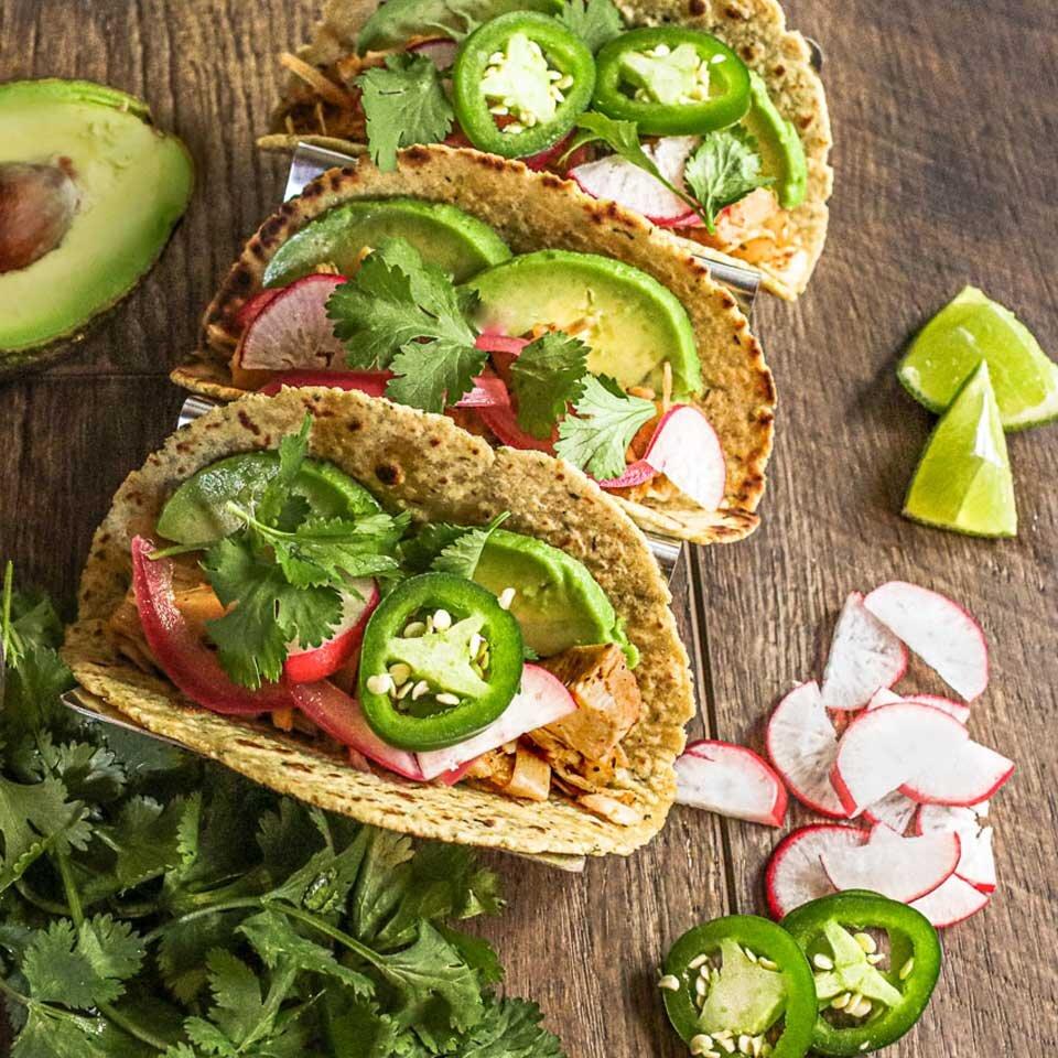 vegan chili lime jackfruit tacos