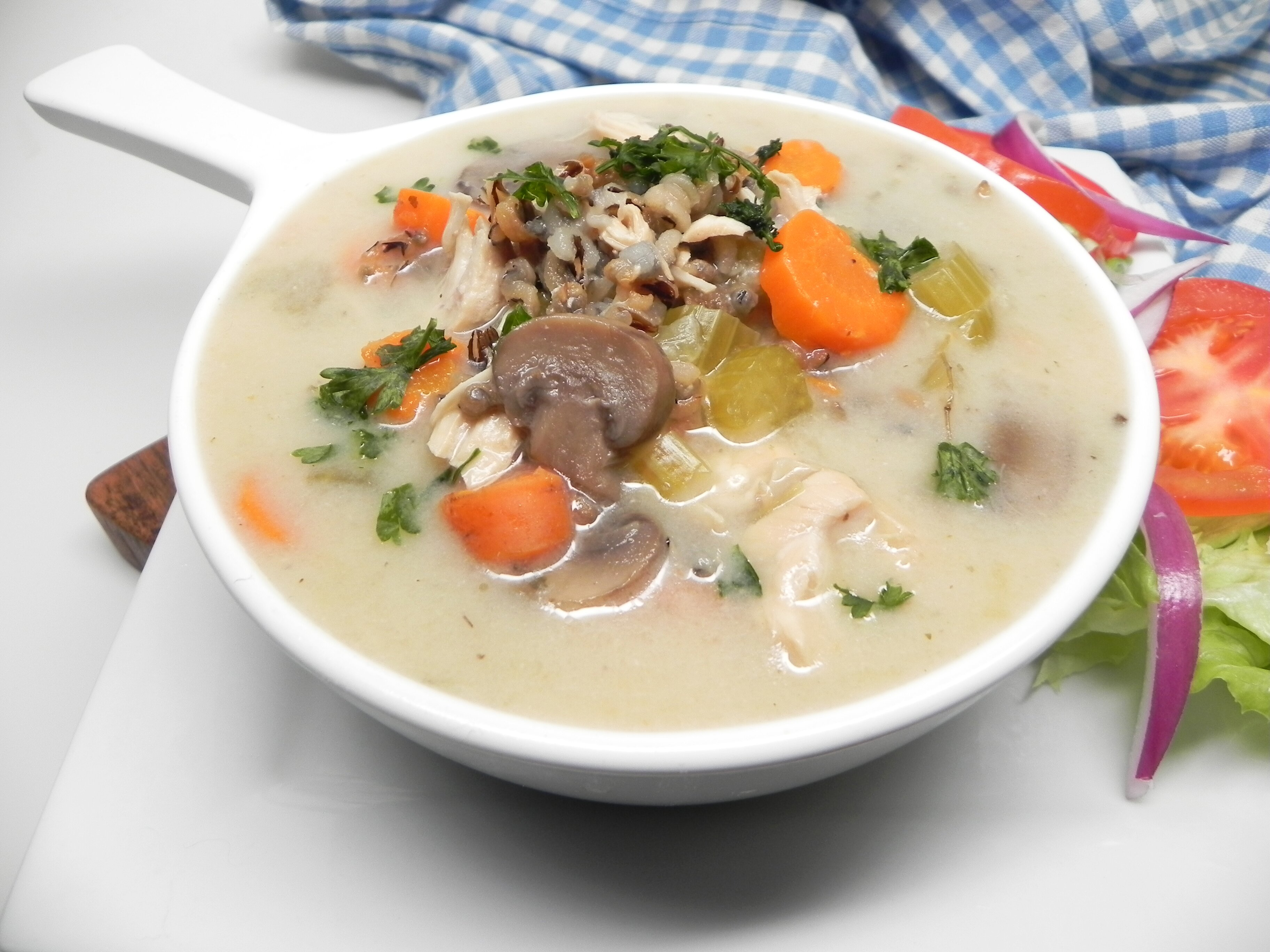 instant pot chicken and wild rice soup recipe
