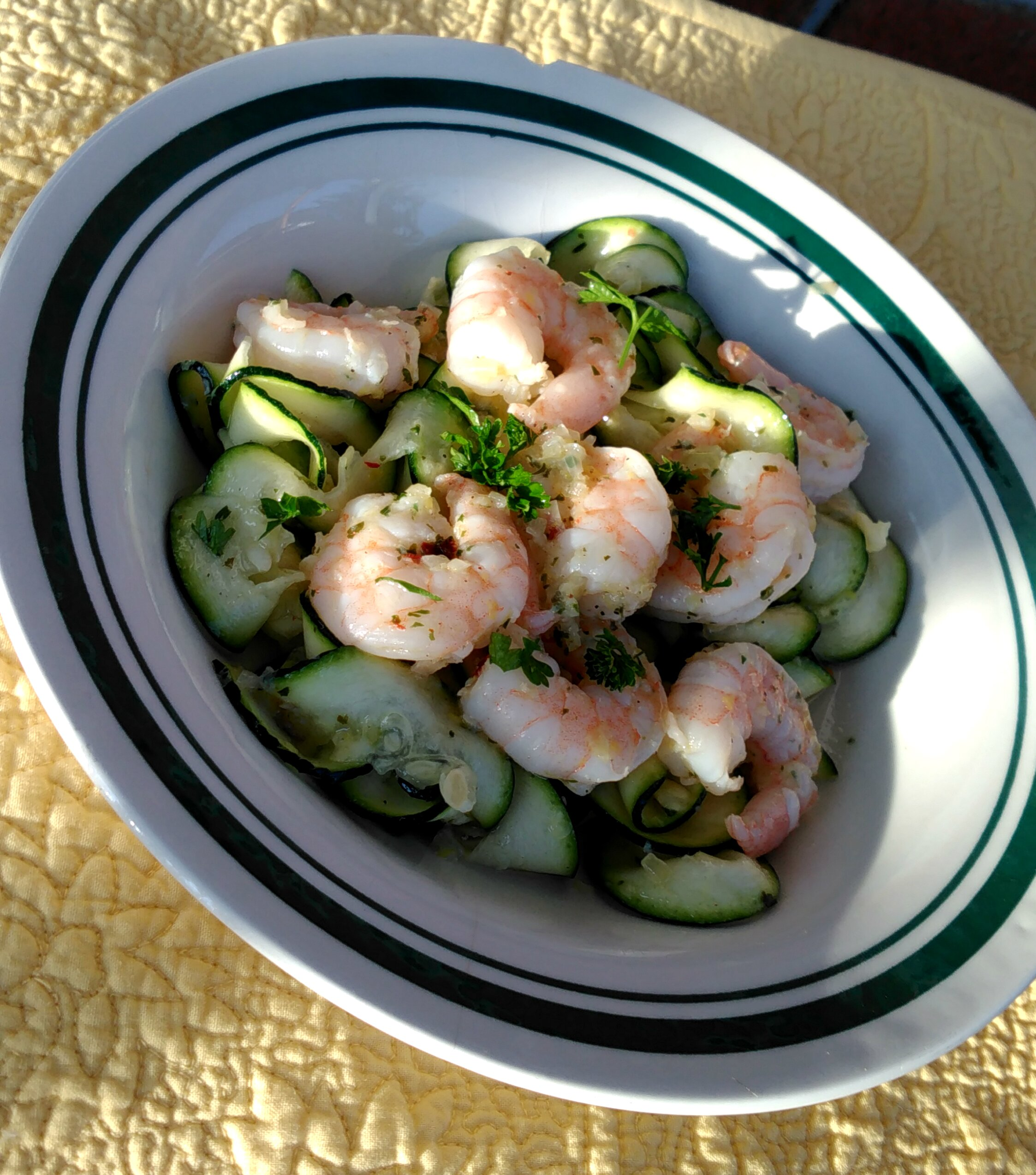 healthy shrimp scampi with zoodles recipe