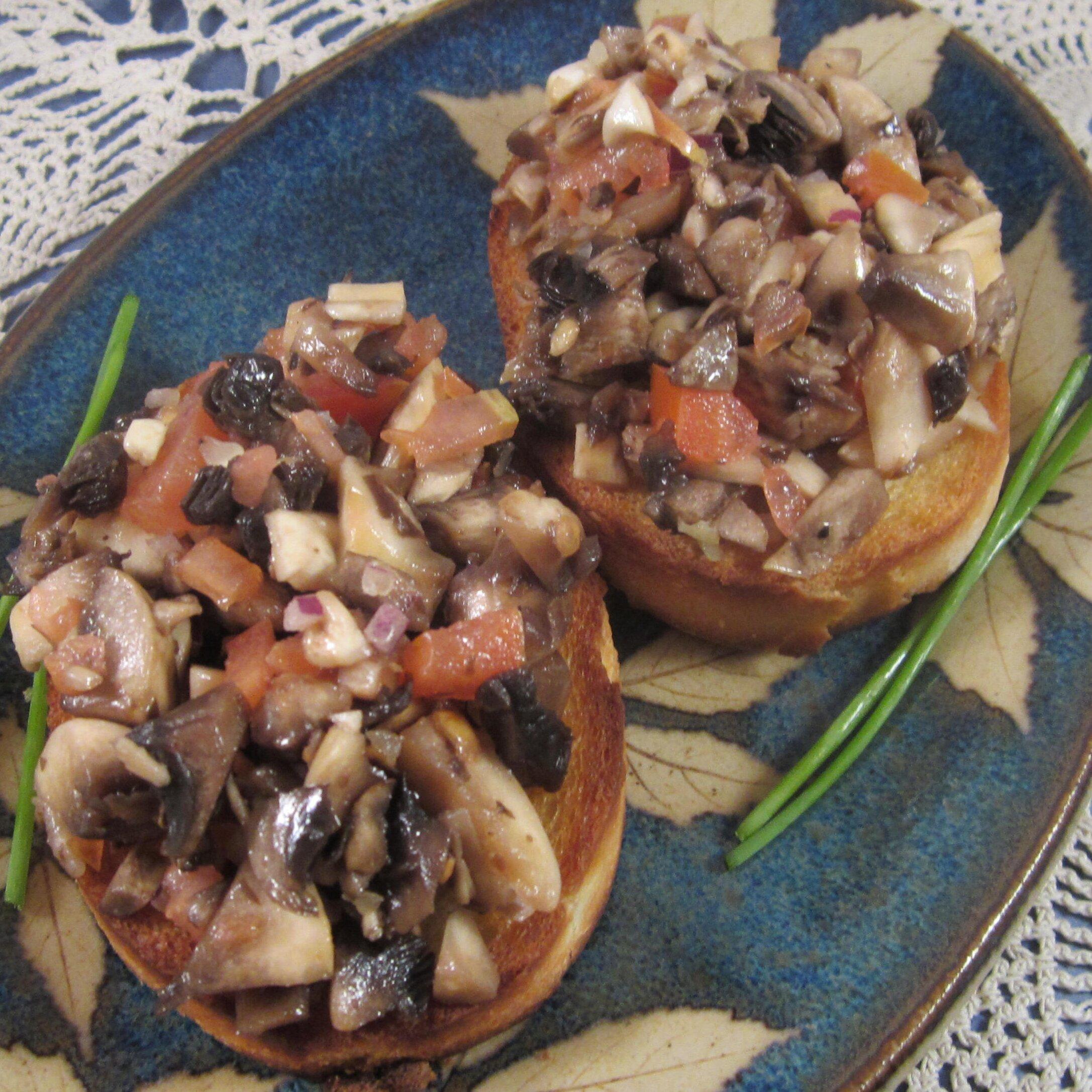 cold mushroom bruschetta recipe