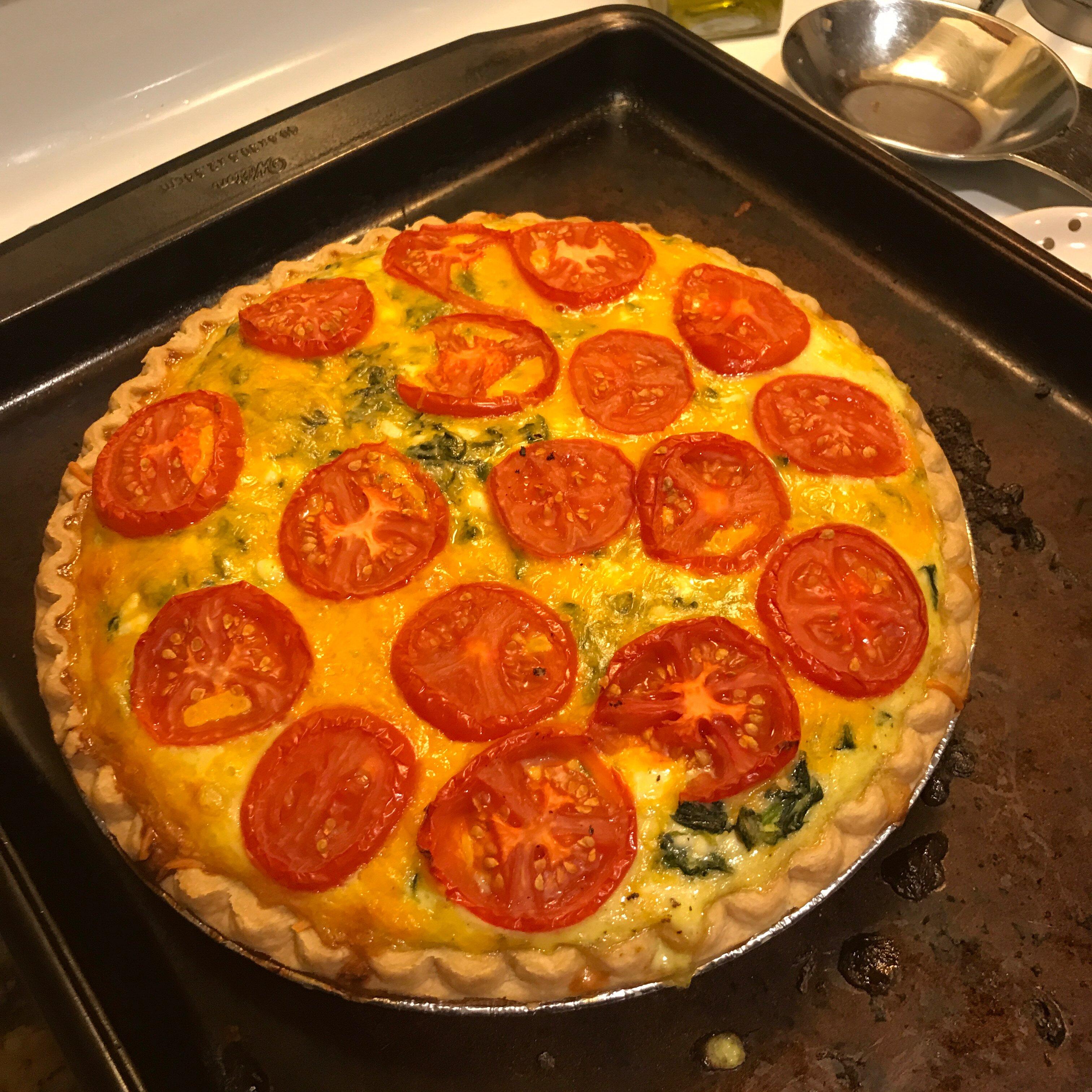 clintons special vegetarian quiche recipe