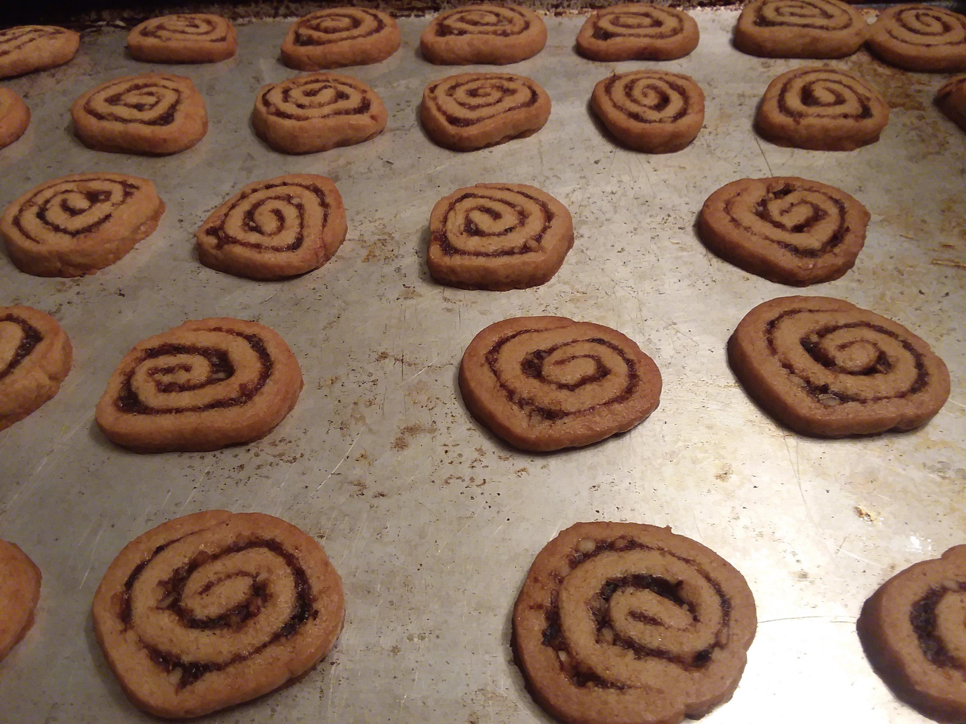 orange date pinwheel cookies recipe