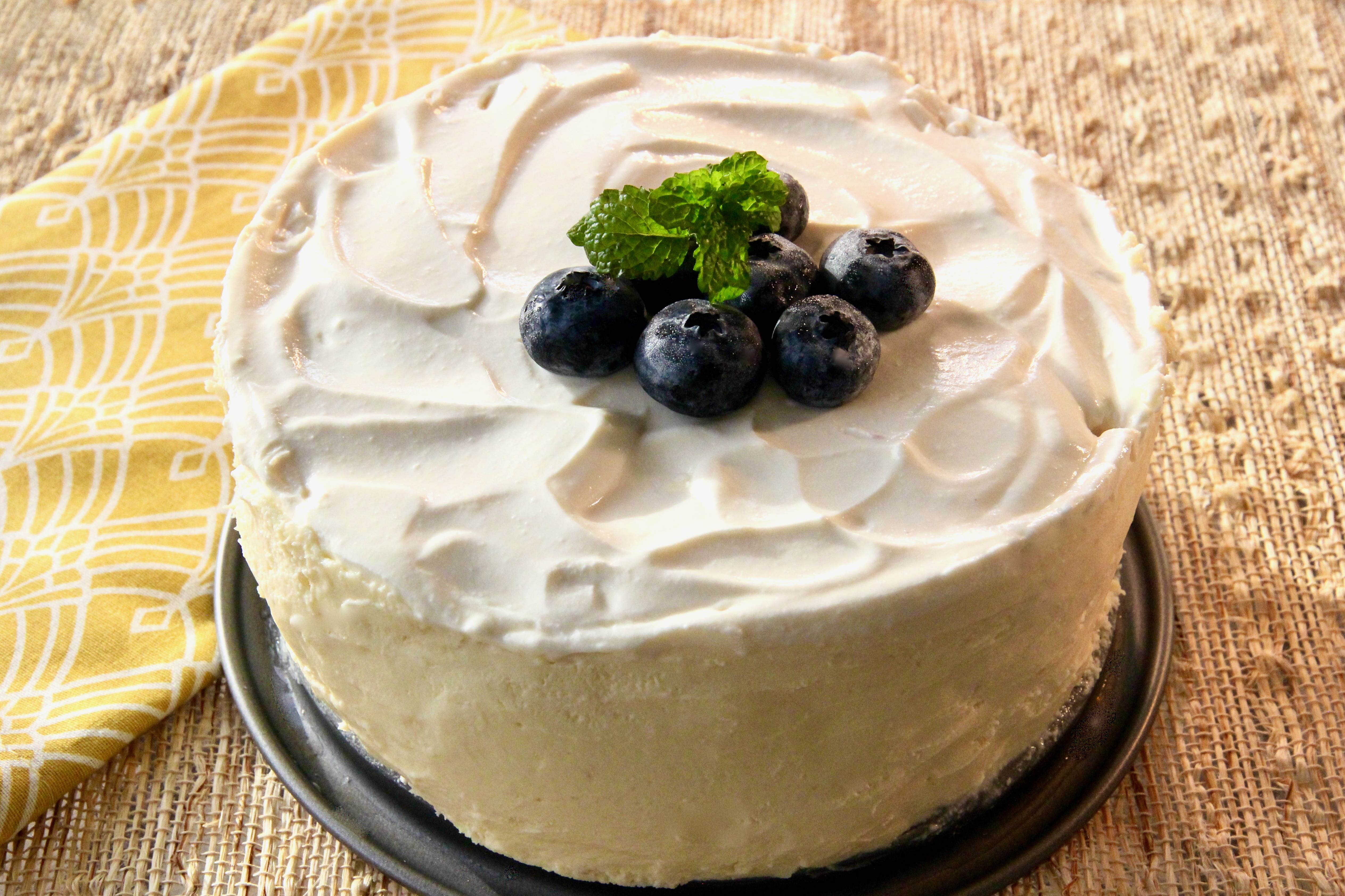 instant pot cheesecake with sour cream topping recipe