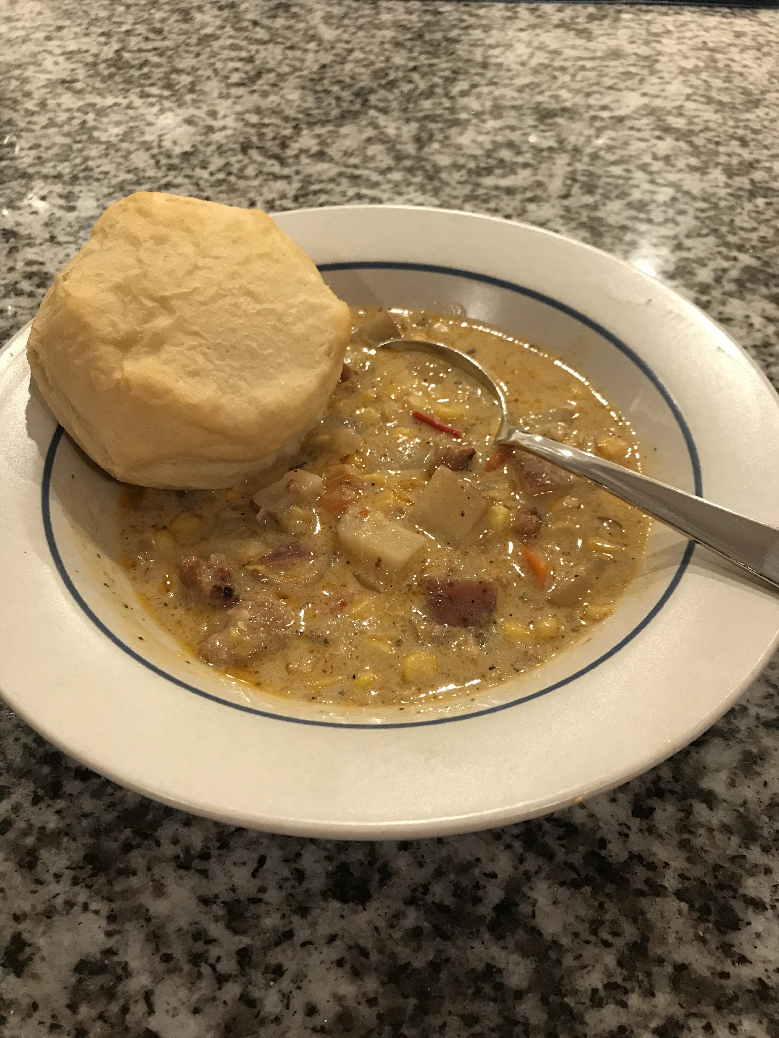 spicy slow cooker corn chowder recipe