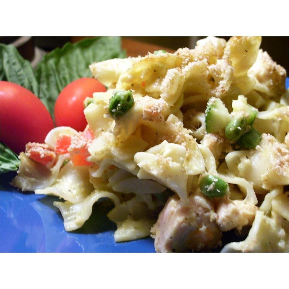 cheesy tuna noodle casserole recipe