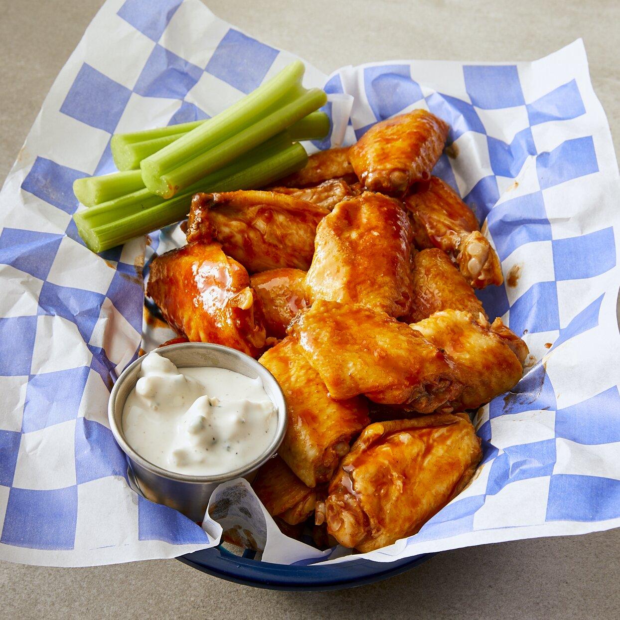 blue cheese hot wings recipe
