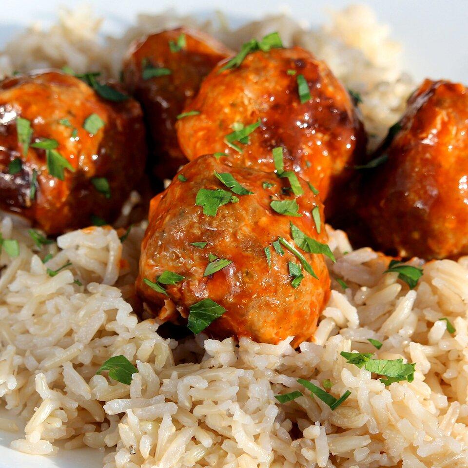 feta stuffed cocktail buffalo chicken meatballs recipe